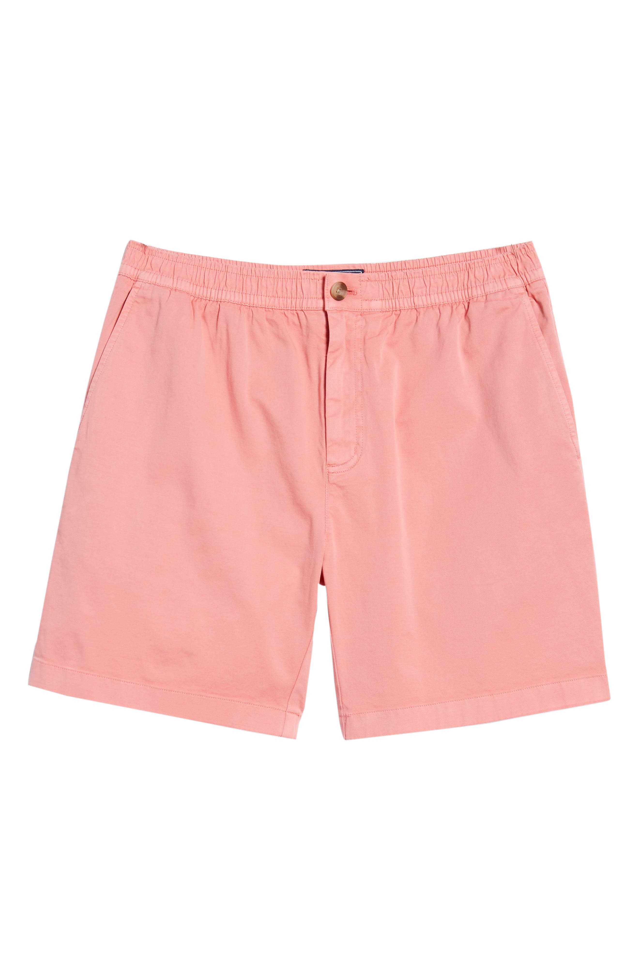 Jetty Stretch Cotton Shorts,                             Alternate thumbnail 6, color,                             Cape Coral