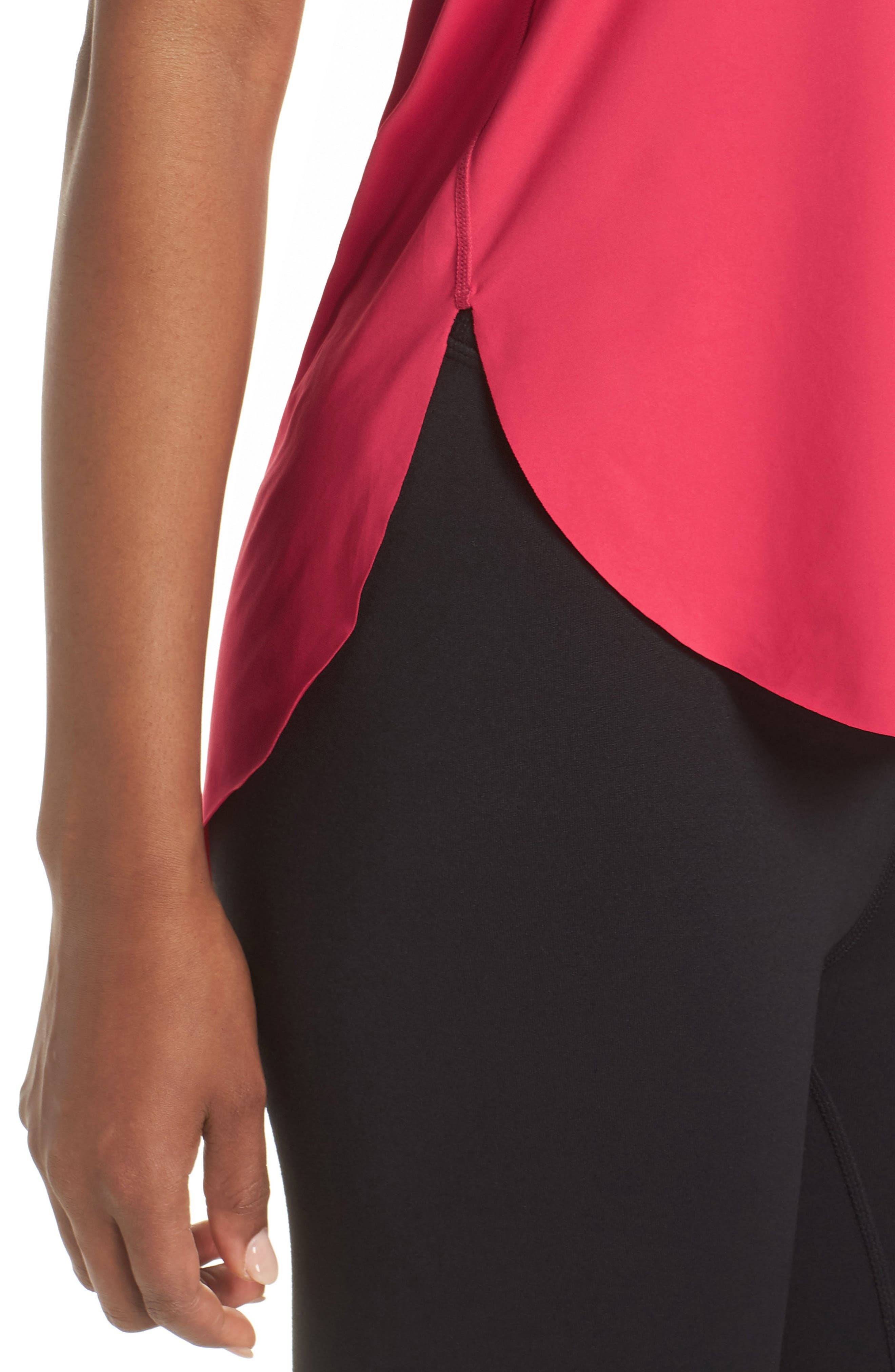 Fera Perforated Tank,                             Alternate thumbnail 4, color,                             Red Desire