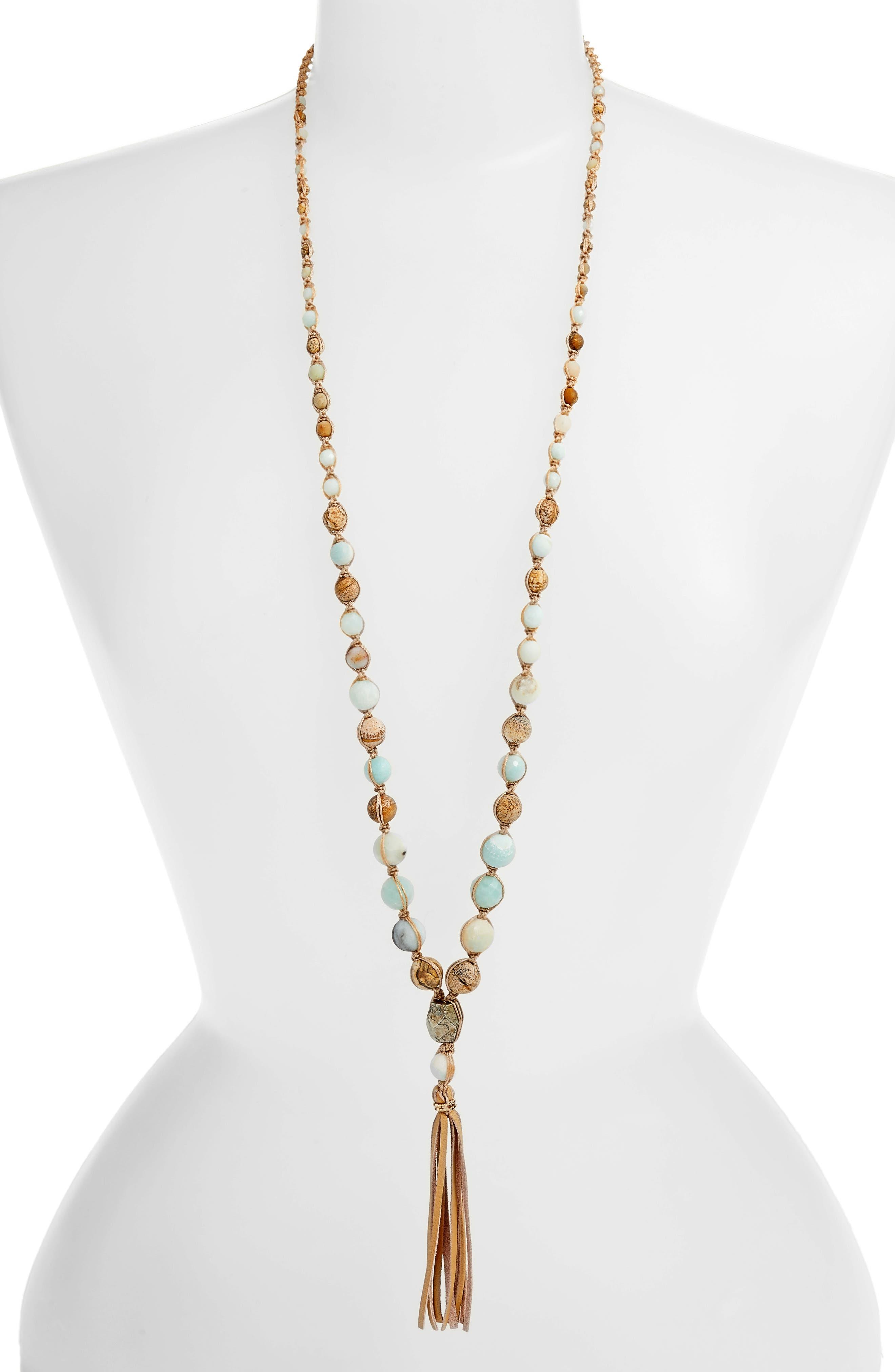 Chan Luu Graduated Tassel Pendant Necklace