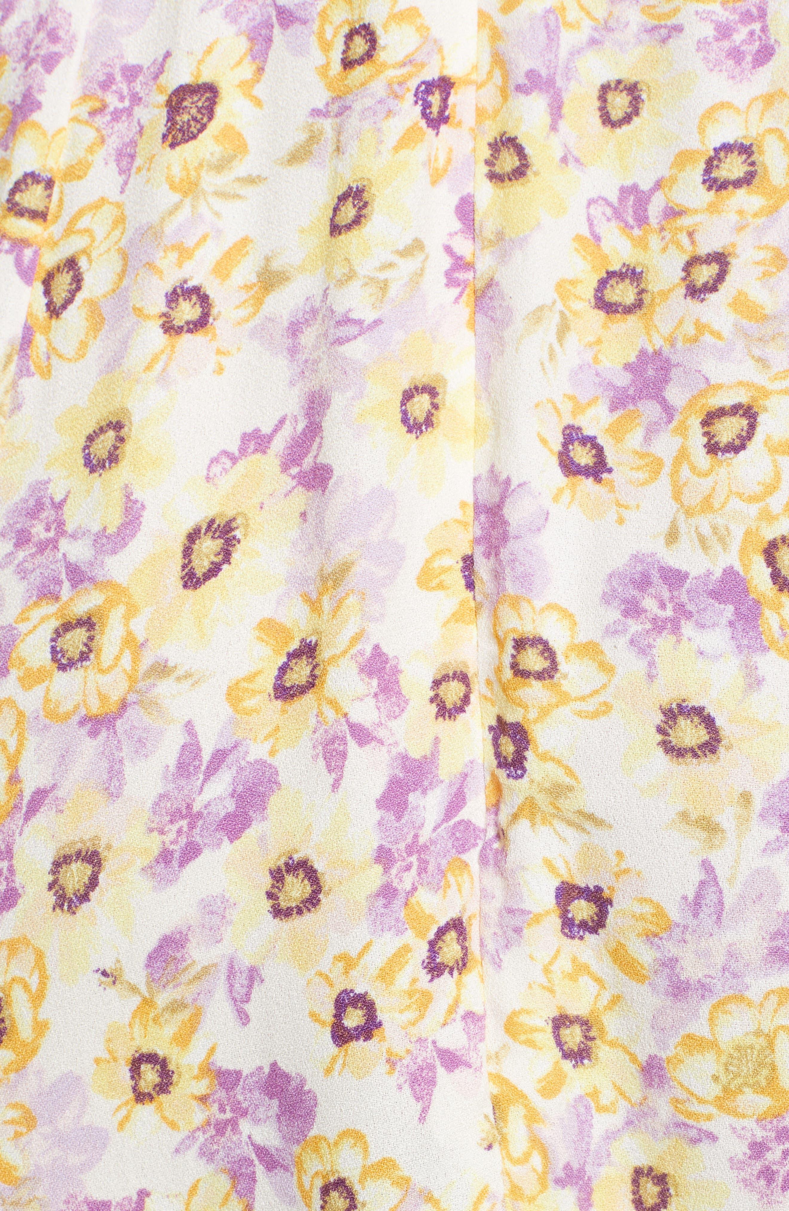 Palms Minidress,                             Alternate thumbnail 6, color,                             Yellow Garden