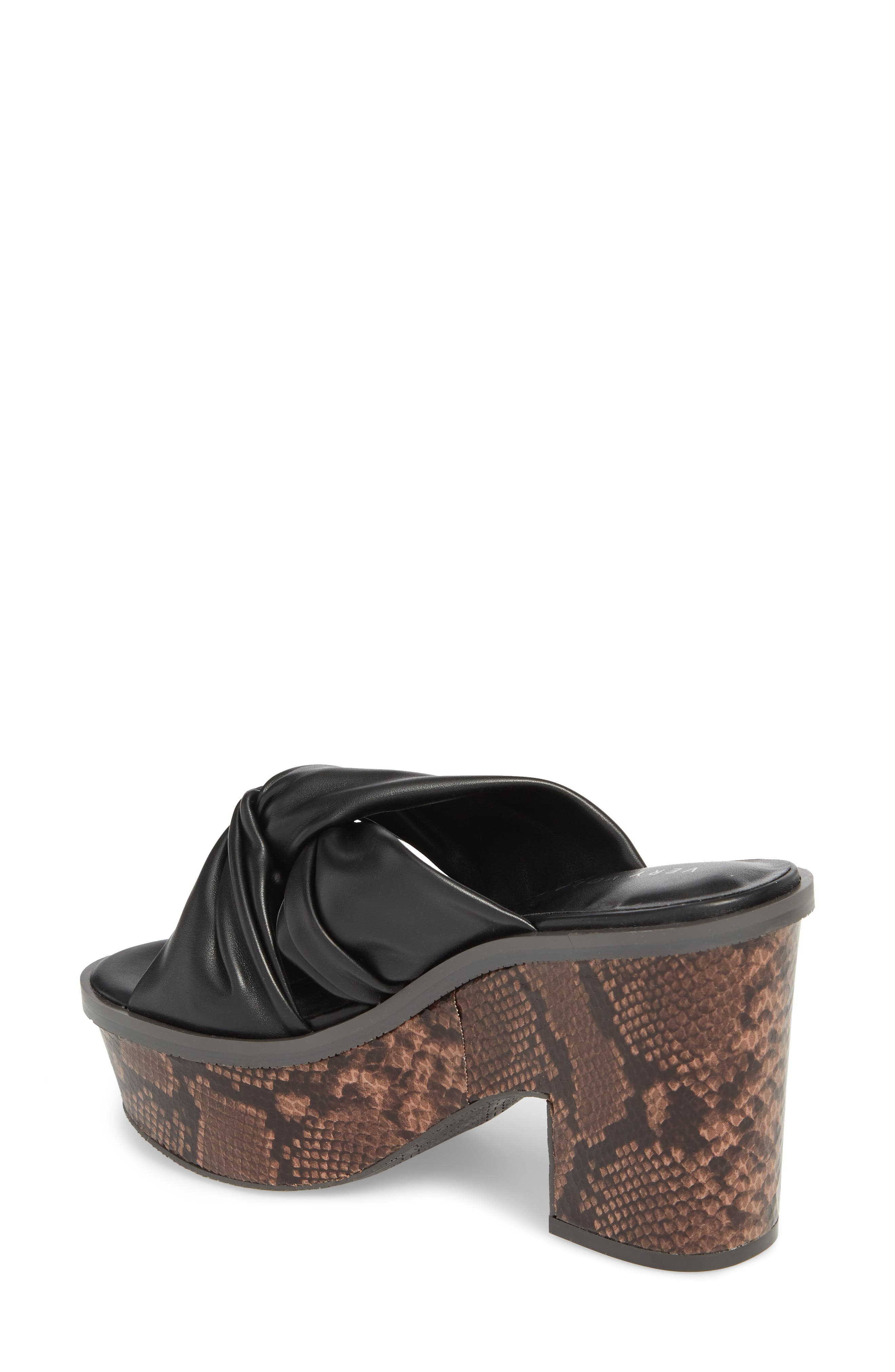 Ainsley Platform Sandal,                             Alternate thumbnail 2, color,                             Black