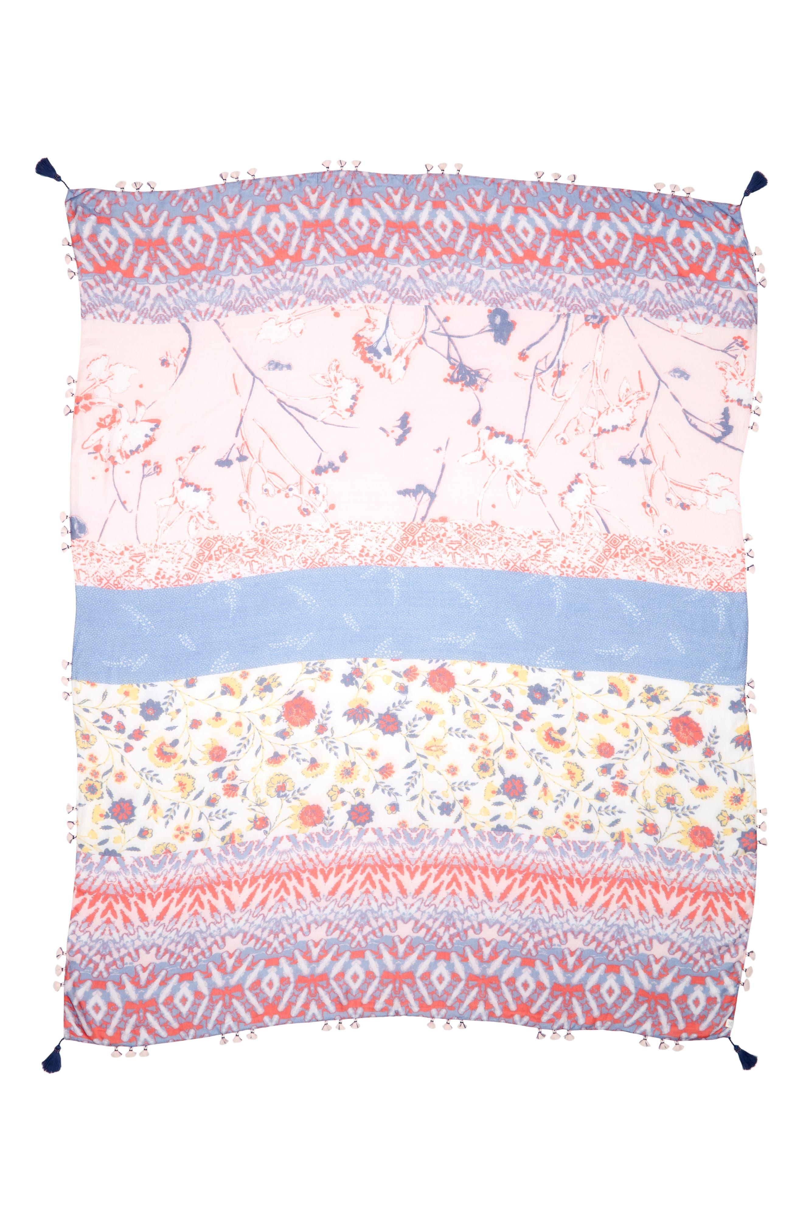 Print Pareo,                             Alternate thumbnail 2, color,                             Pink Coastal Mix