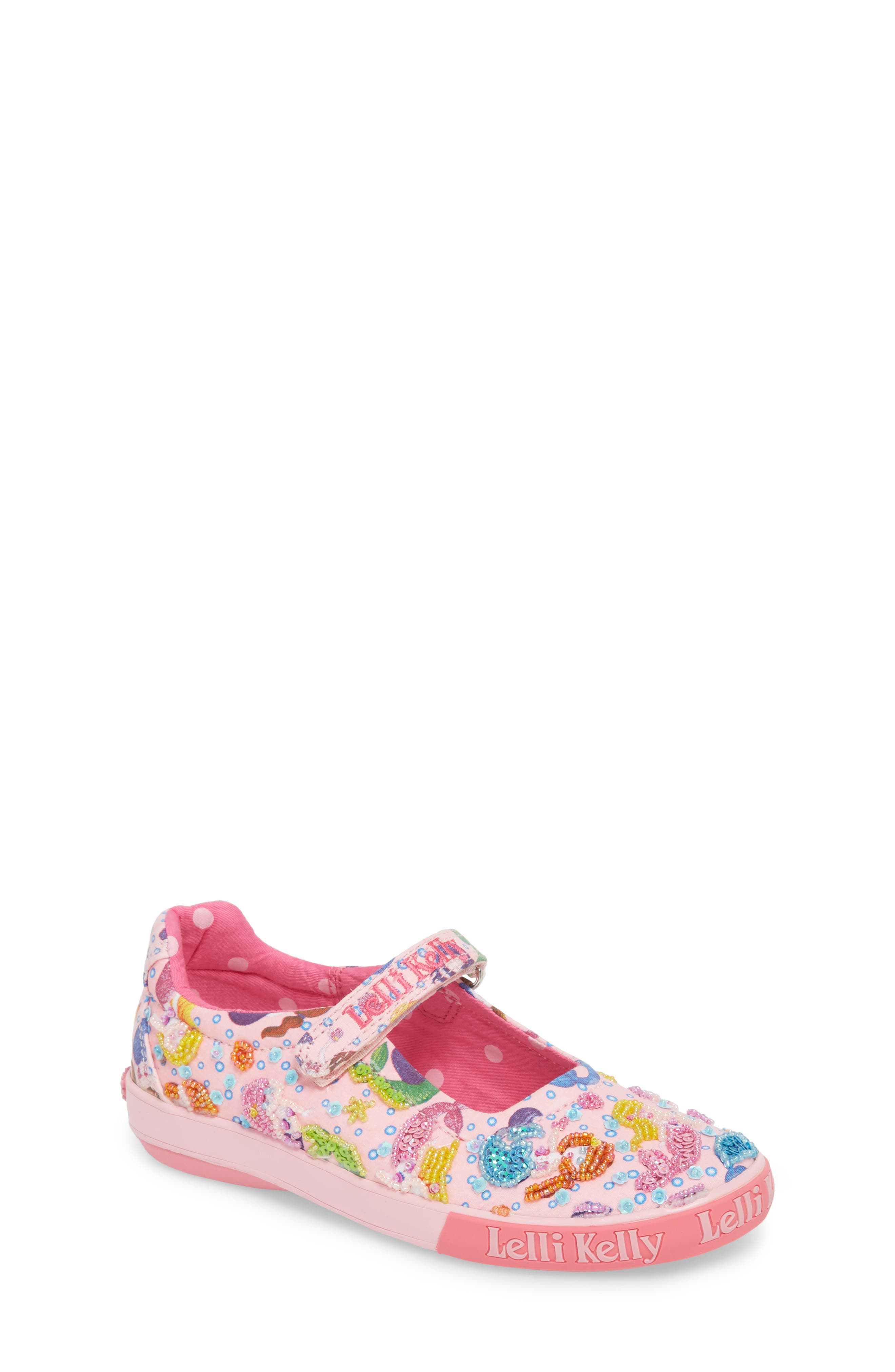 Beaded Mary Jane Sneaker,                         Main,                         color, Pink