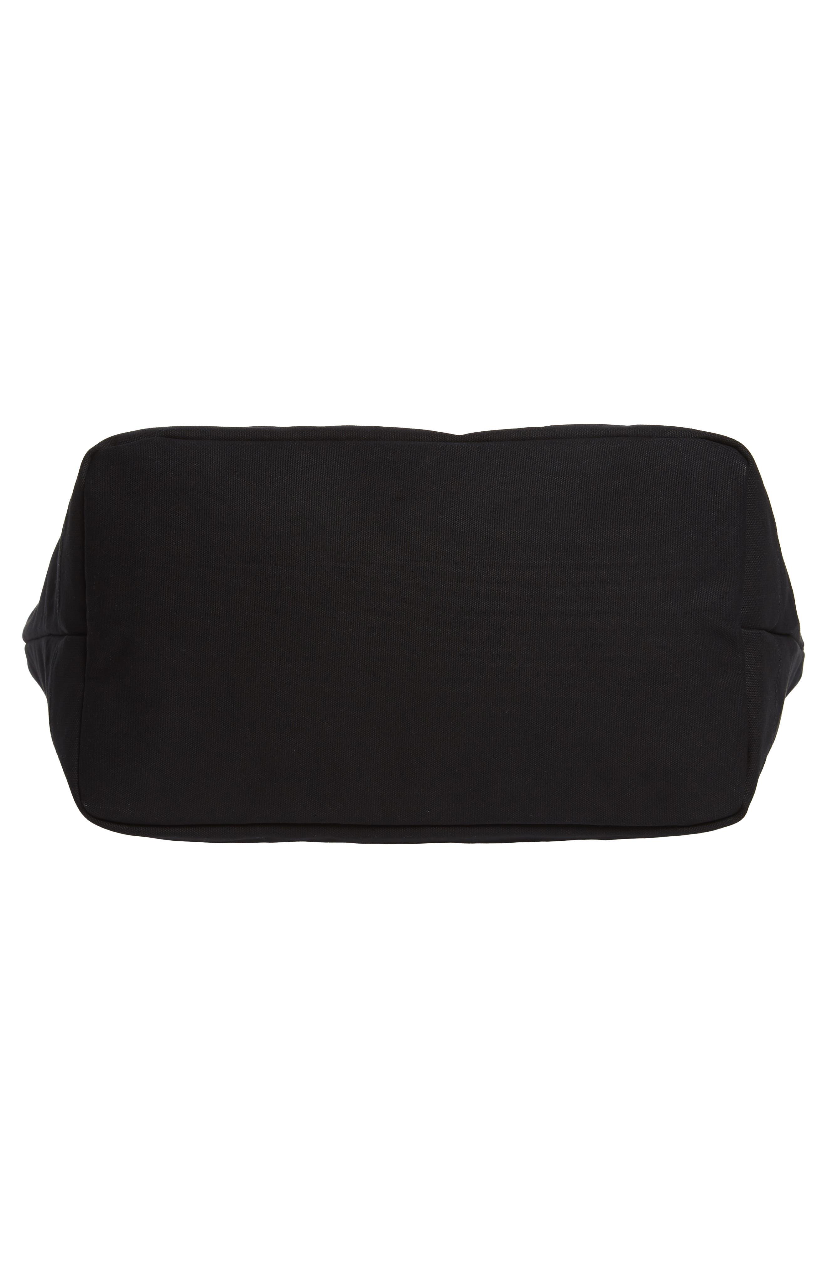 Weekend Water Repellent Tote Bag,                             Alternate thumbnail 6, color,                             Black