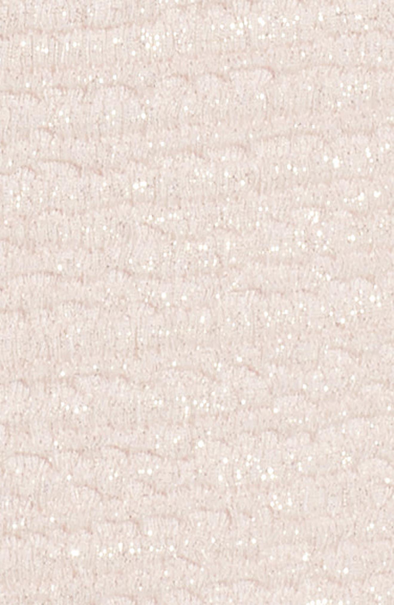 Metallic Knit Gown,                             Alternate thumbnail 5, color,                             Blush