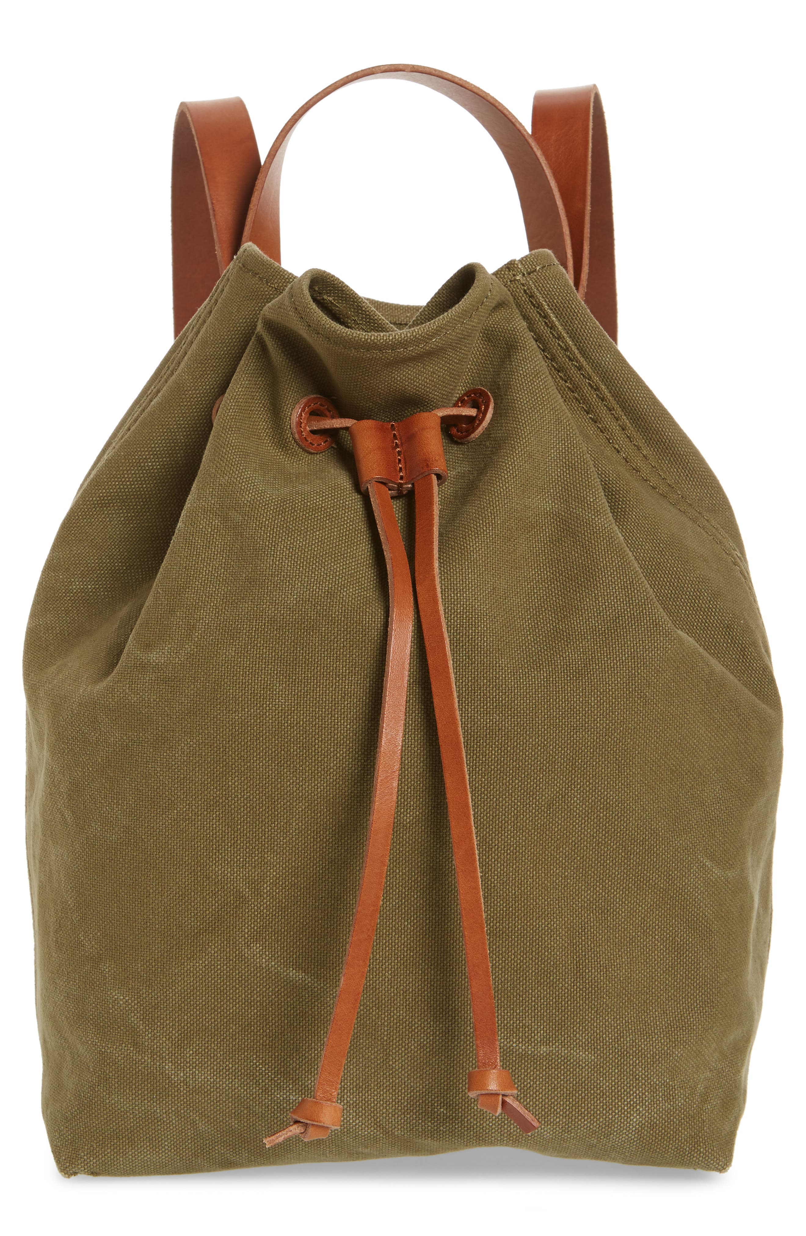 Somerset Canvas Backpack,                         Main,                         color, British Surplus