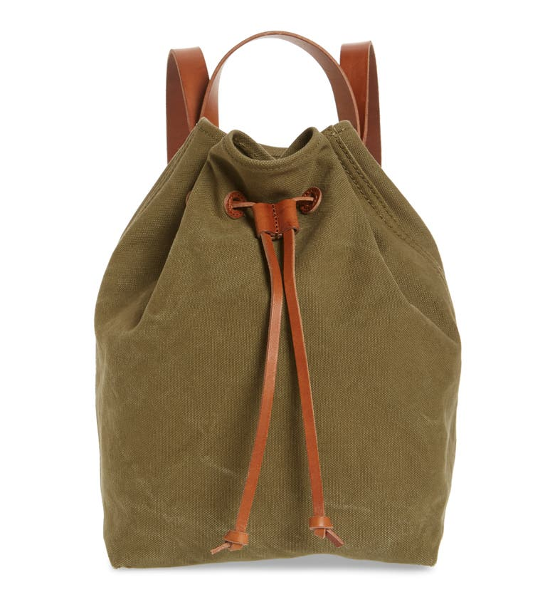 Madewell SOMERSET CANVAS BACKPACK - GREEN
