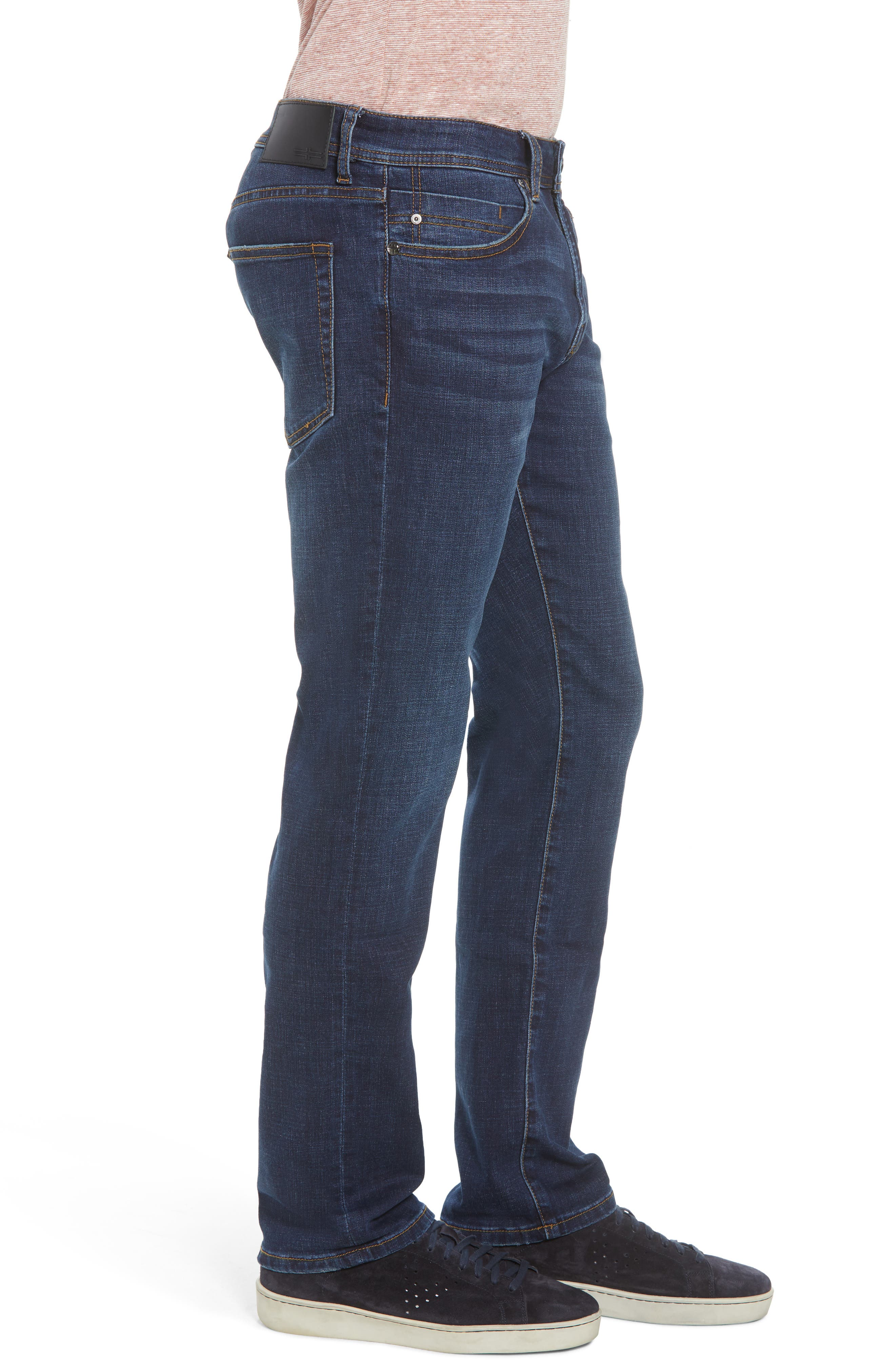 Relaxed Fit Jeans,                             Alternate thumbnail 3, color,                             Navajo Dark