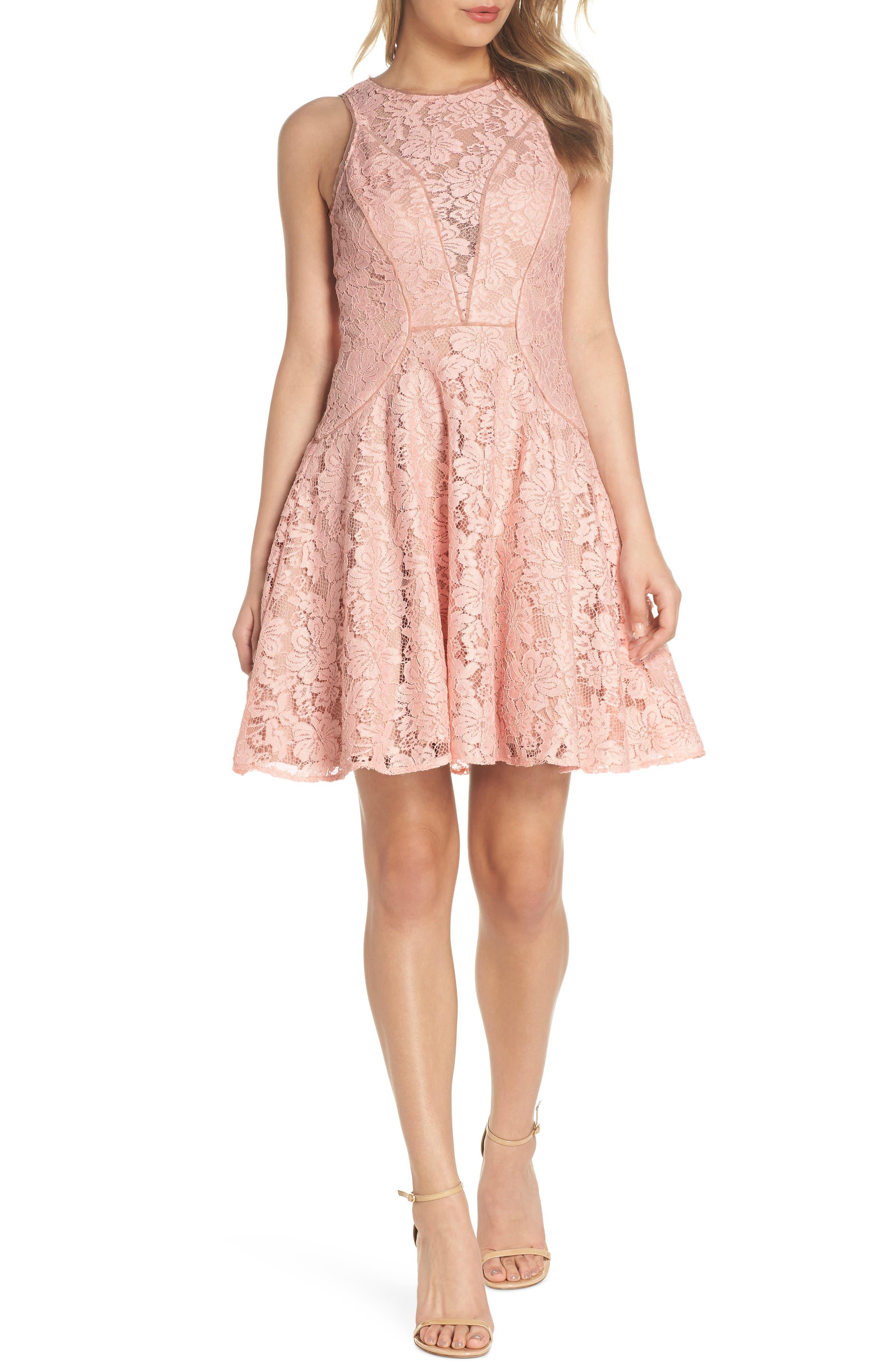 Xscape Lace Fit & Flare Dress