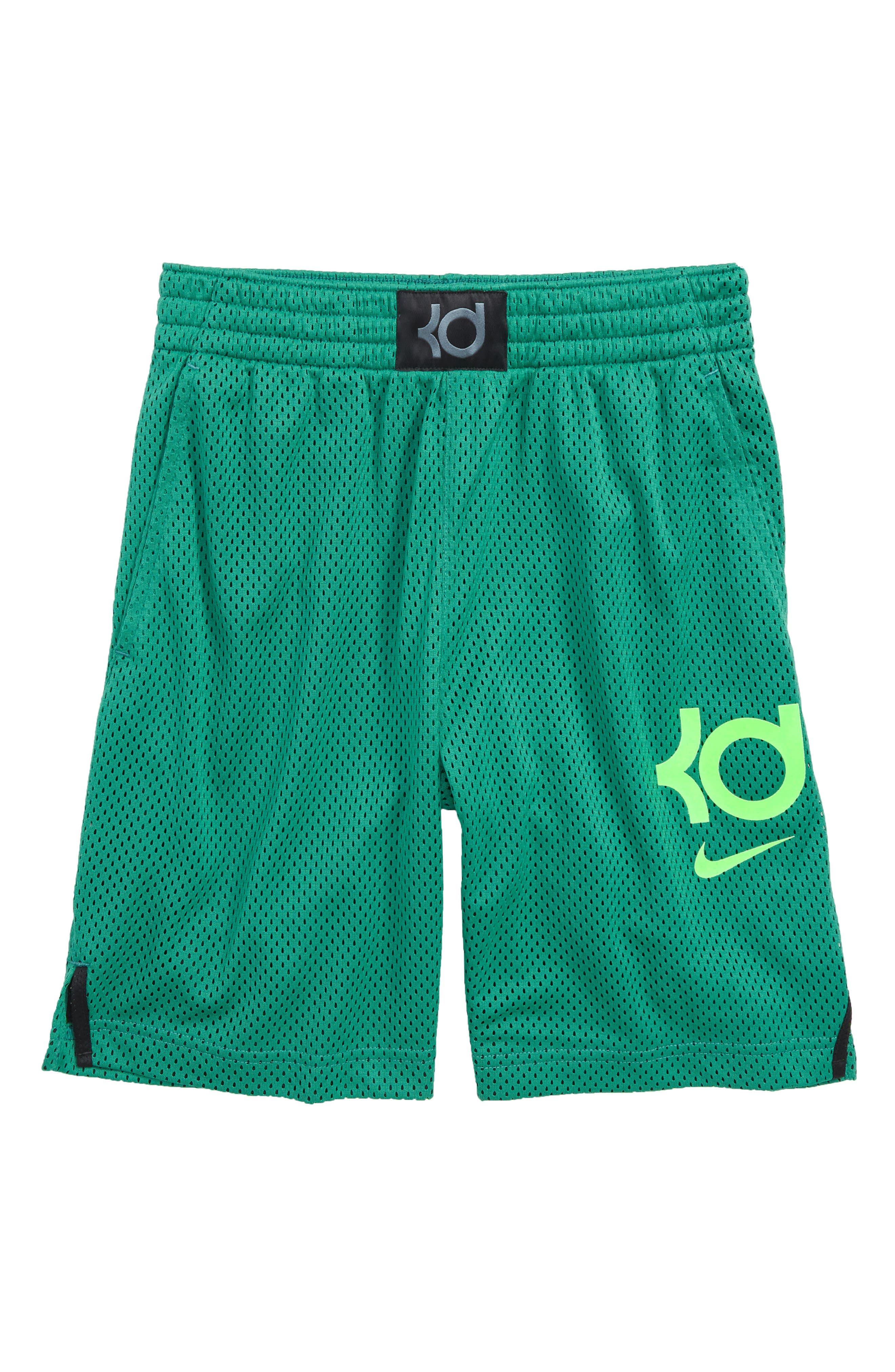 KD GFX Shorts,                             Main thumbnail 1, color,                             Green Noise/ Green Strike