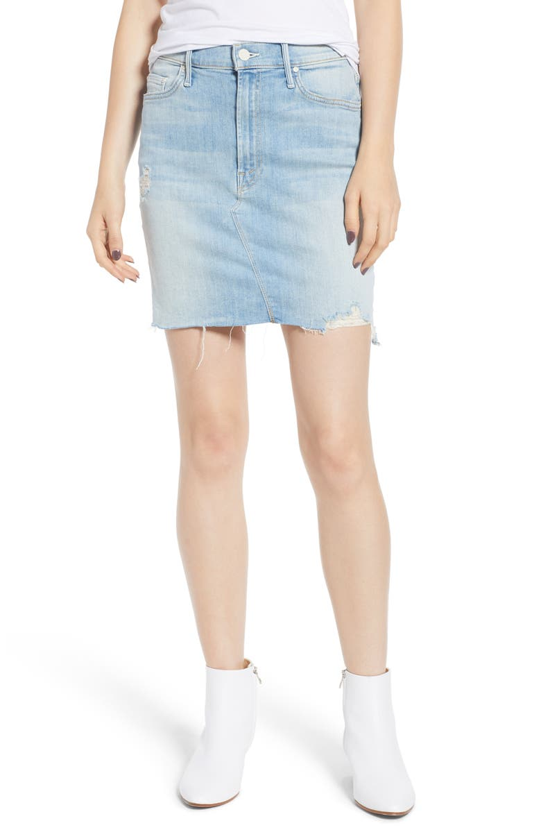 The Sacred Frayed High Waist Miniskirt
