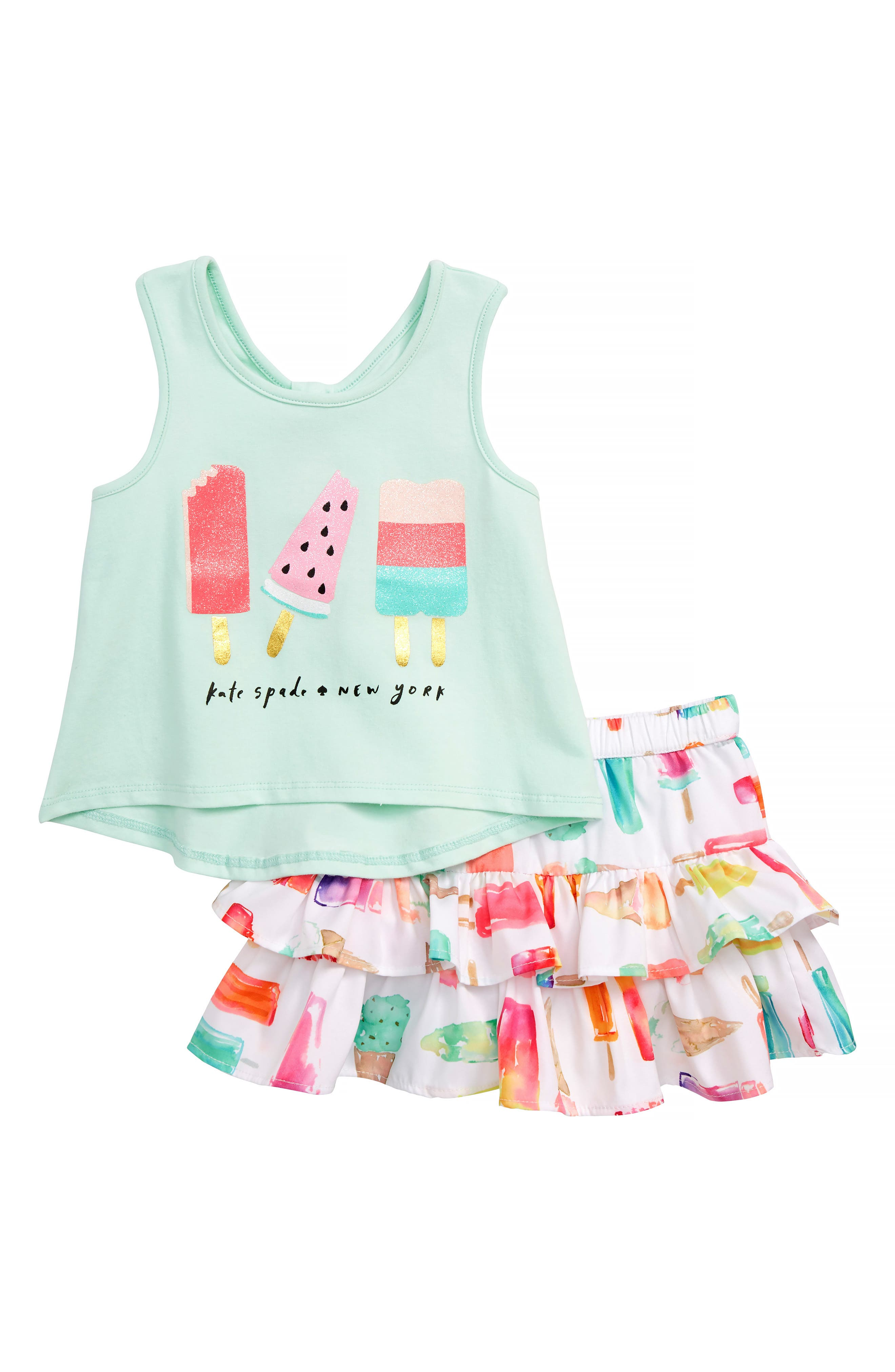 kate spade new york summer treats tank & skirt set (Baby Girls)