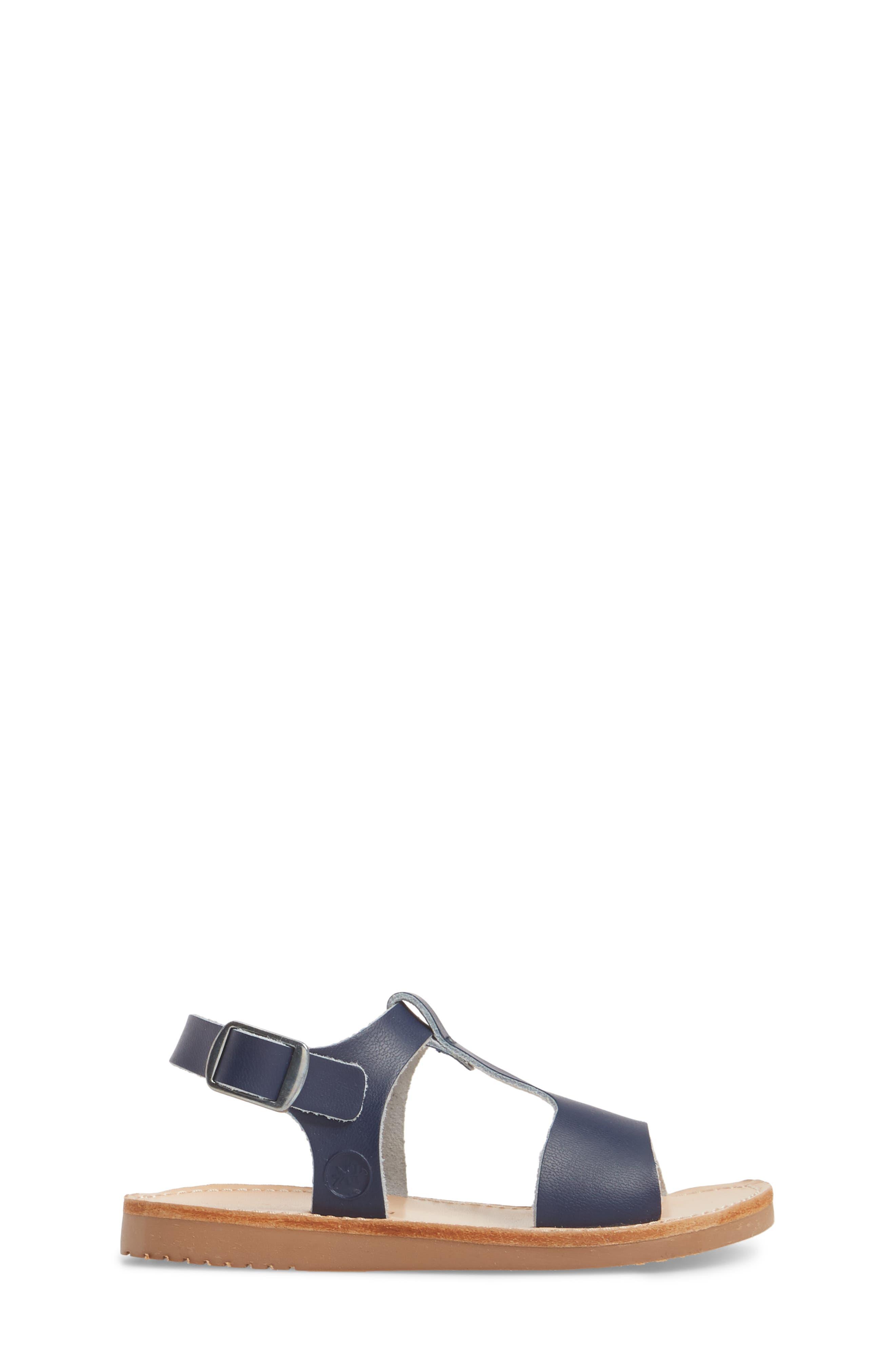 Malibu Water Resistant Sandal,                             Alternate thumbnail 3, color,                             Navy