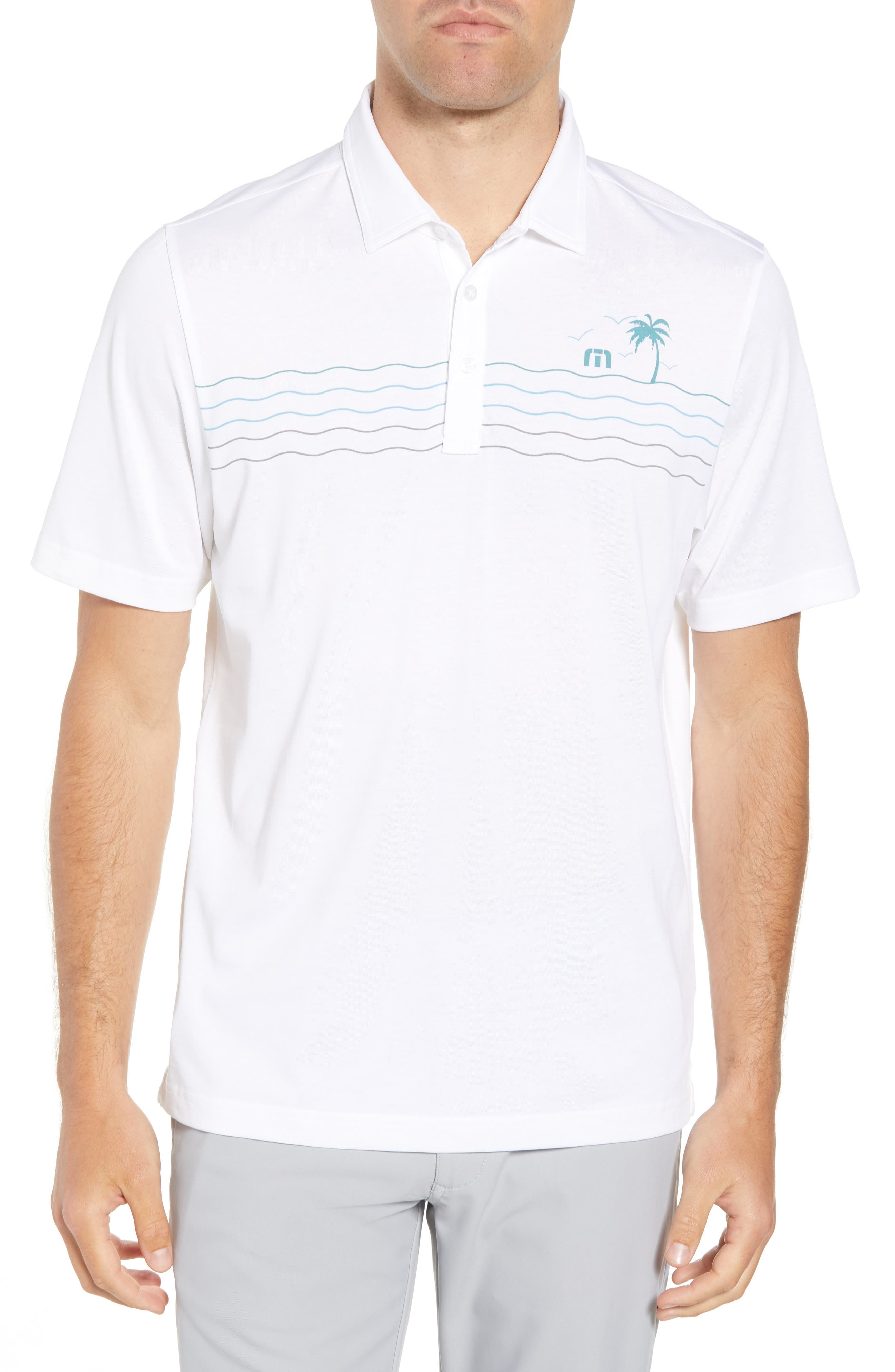 Not 4 Everyone Regular Fit Polo,                             Main thumbnail 1, color,                             White