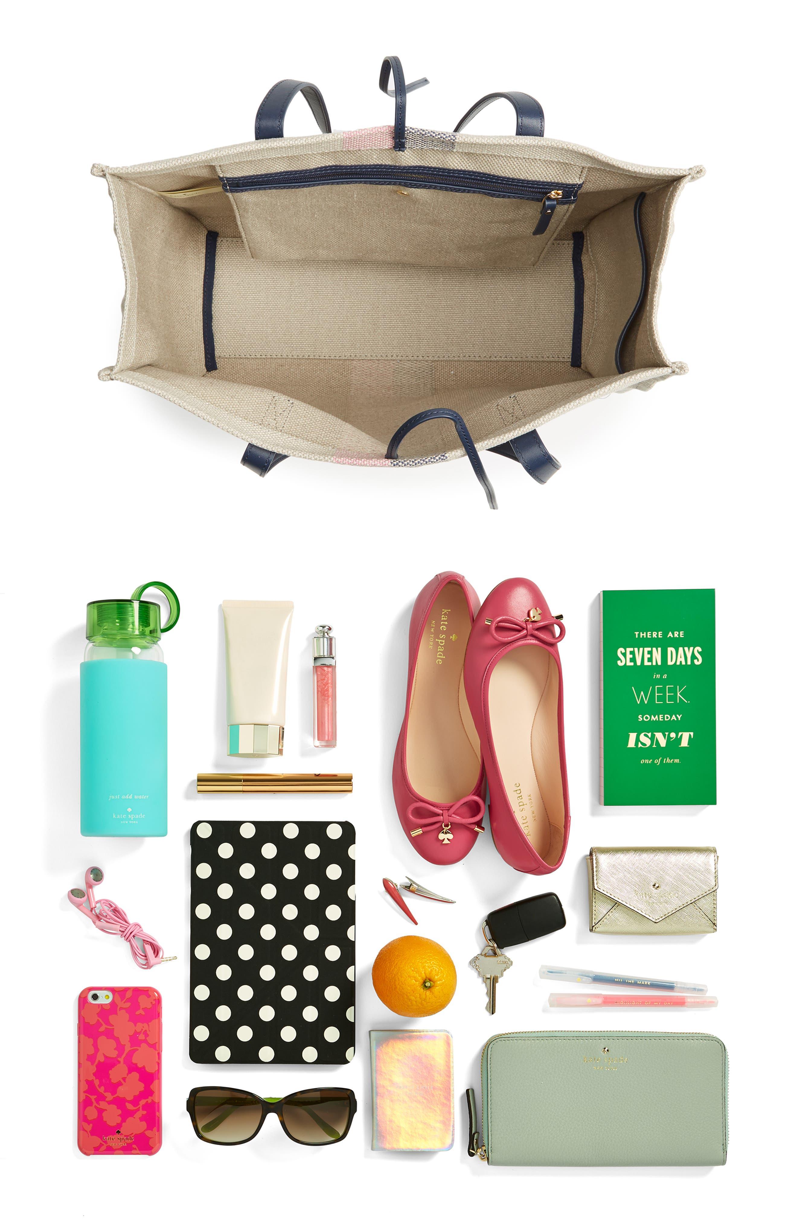 washington square - mega sam canvas satchel,                             Alternate thumbnail 7, color,