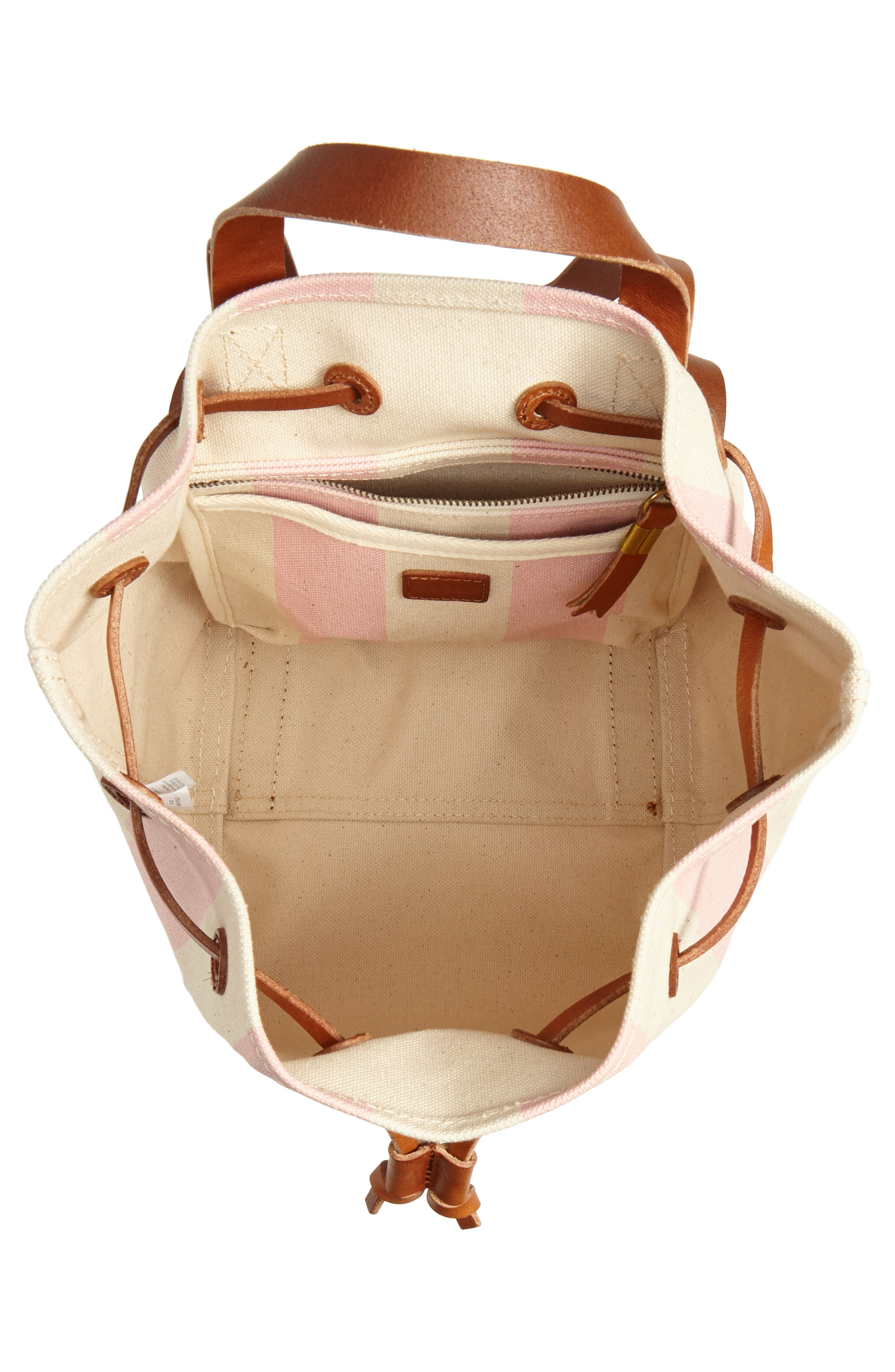 Somerset Canvas Backpack,                             Alternate thumbnail 4, color,                             Petal Pink Stripe