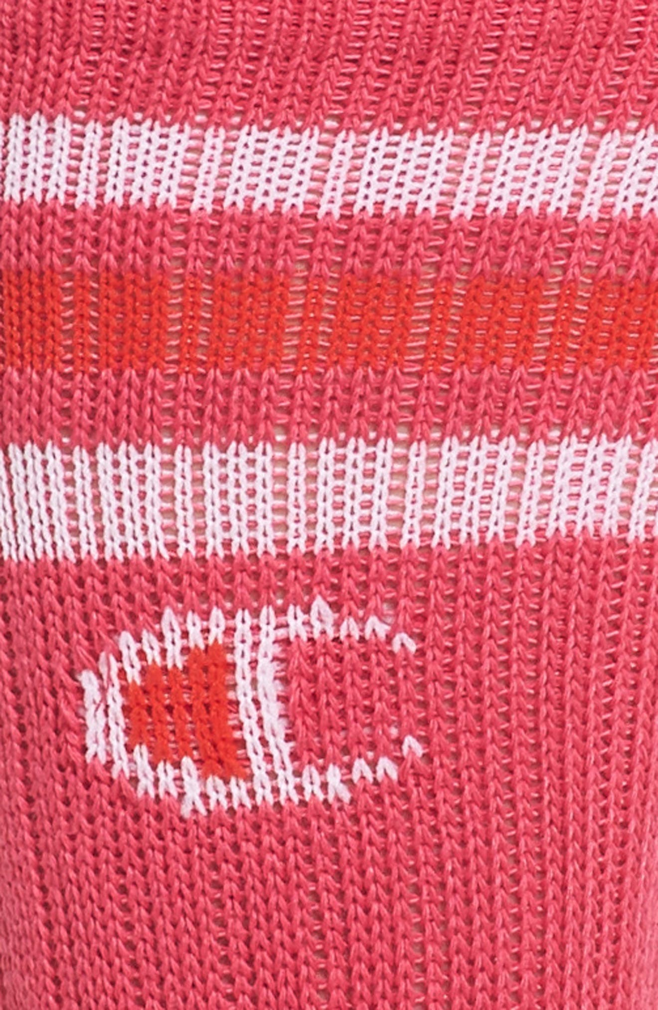 Big C Crew Socks,                             Alternate thumbnail 2, color,                             Pink