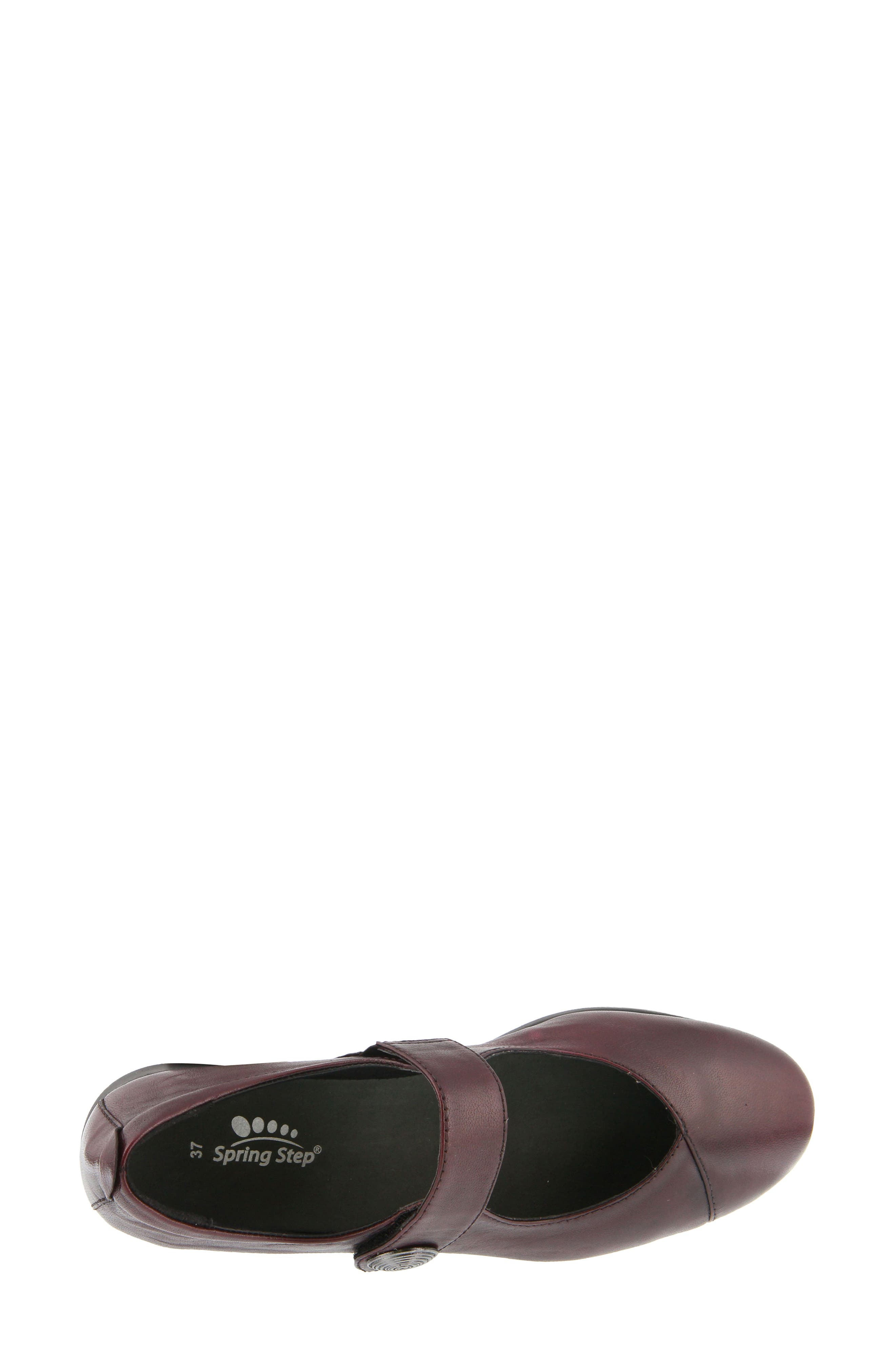 Zemira Flat,                             Alternate thumbnail 3, color,                             Bordeaux Leather