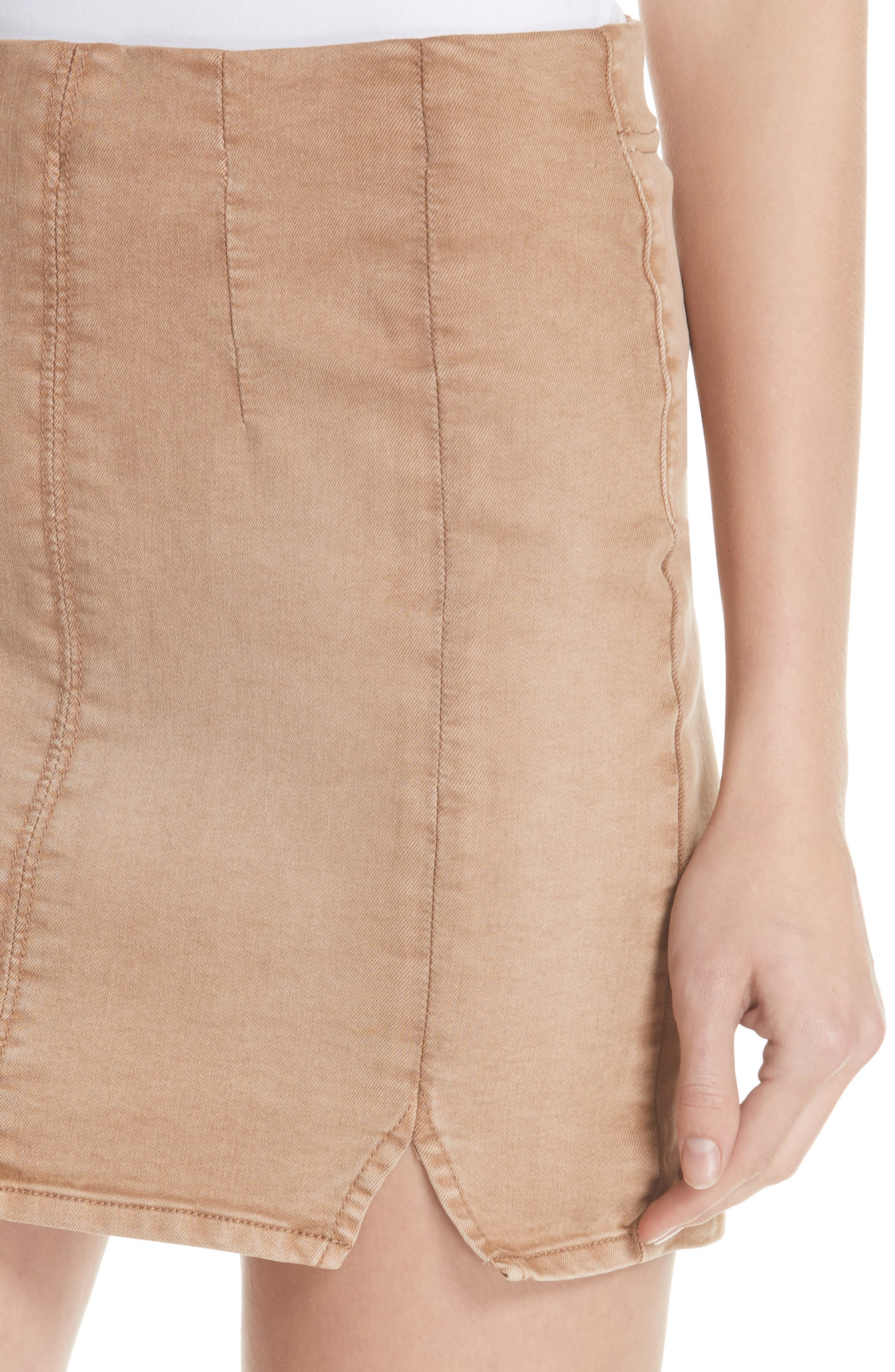 Femme Fatale Pull On Skirt,                             Alternate thumbnail 5, color,                             Khaki