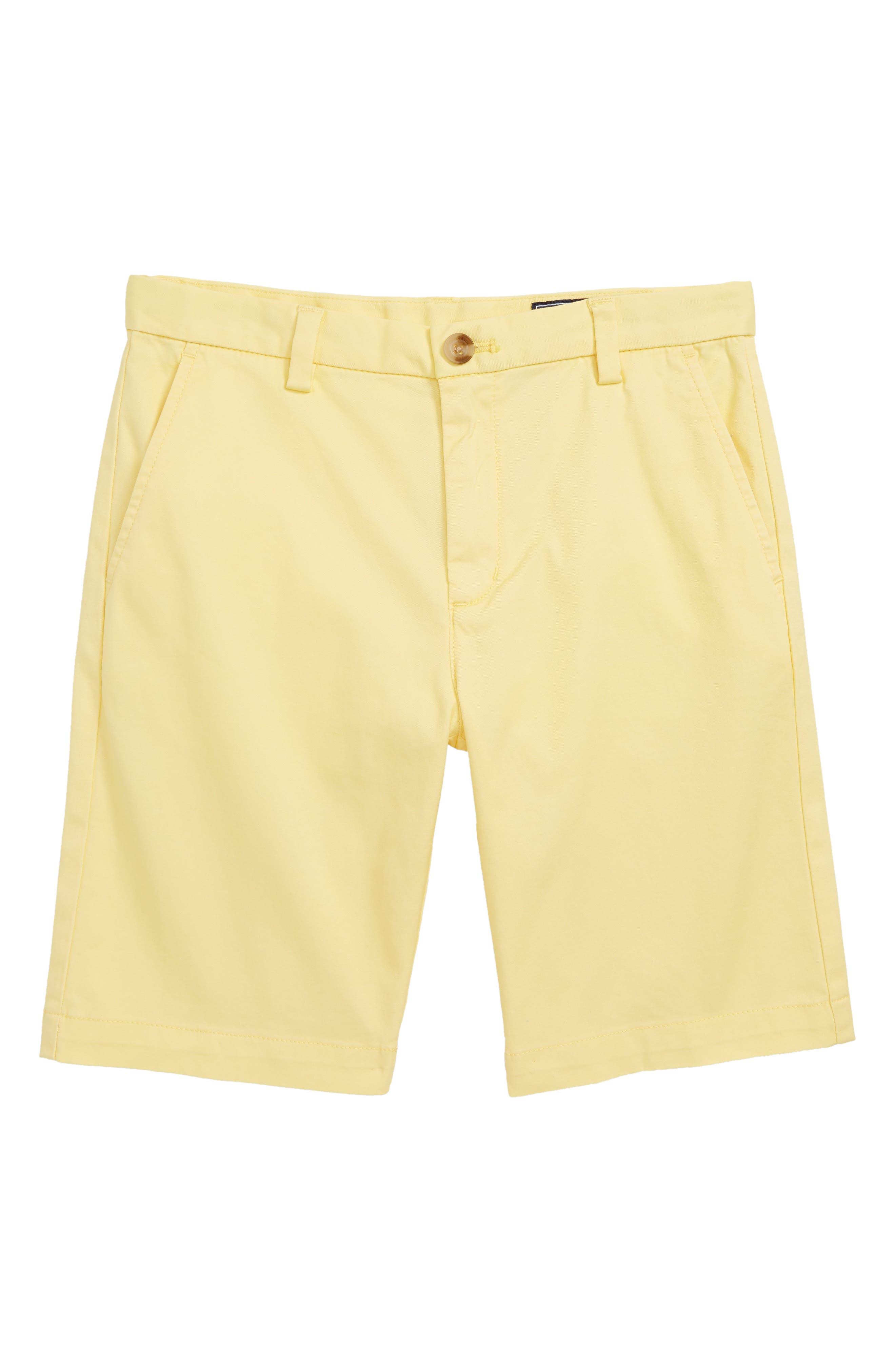 Stretch Breaker Shorts,                             Main thumbnail 1, color,                             Lemon Drop