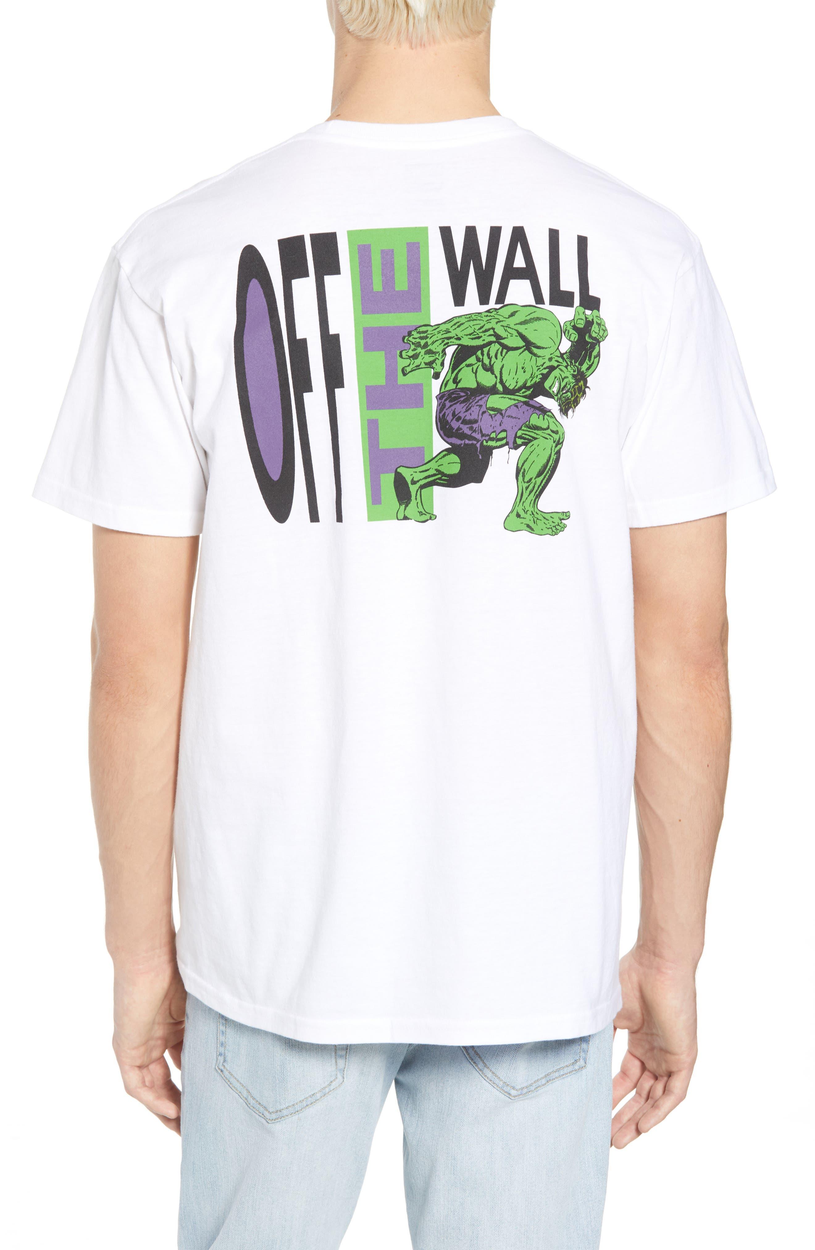 x Marvel<sup>®</sup> Hulk T-Shirt,                             Alternate thumbnail 2, color,                             White