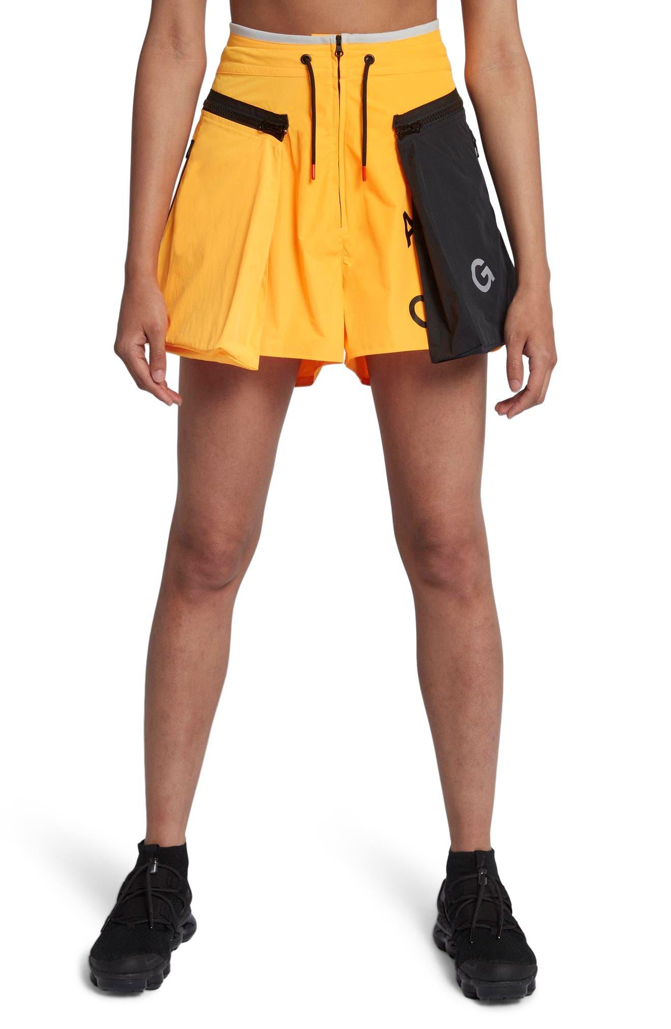 NikeLab ACG Women's Cargo Shorts.,                             Main thumbnail 1, color,                             Laser Orange/ Vast Grey