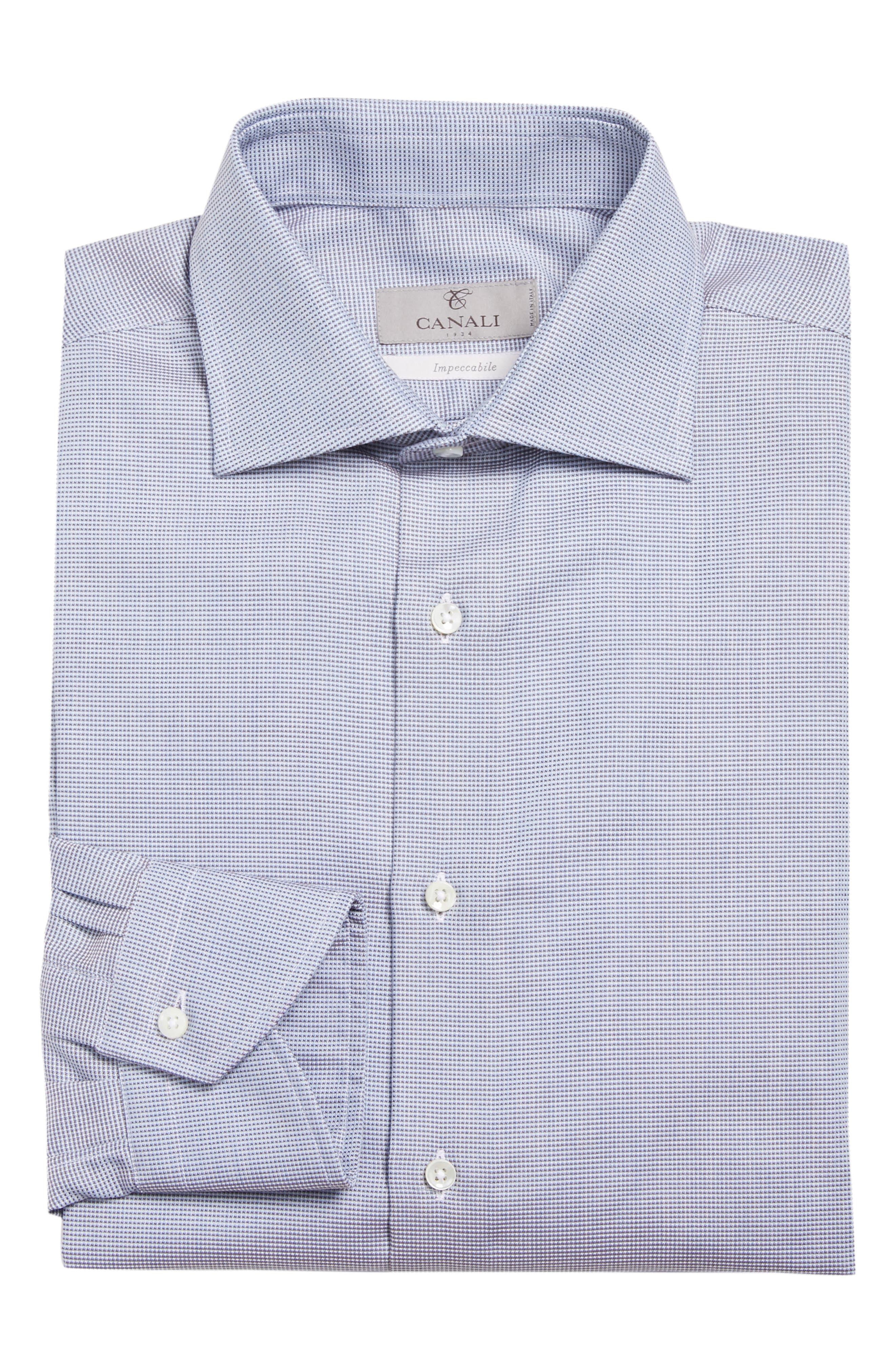 Regular Fit Solid Dress Shirt,                             Alternate thumbnail 6, color,                             Brown