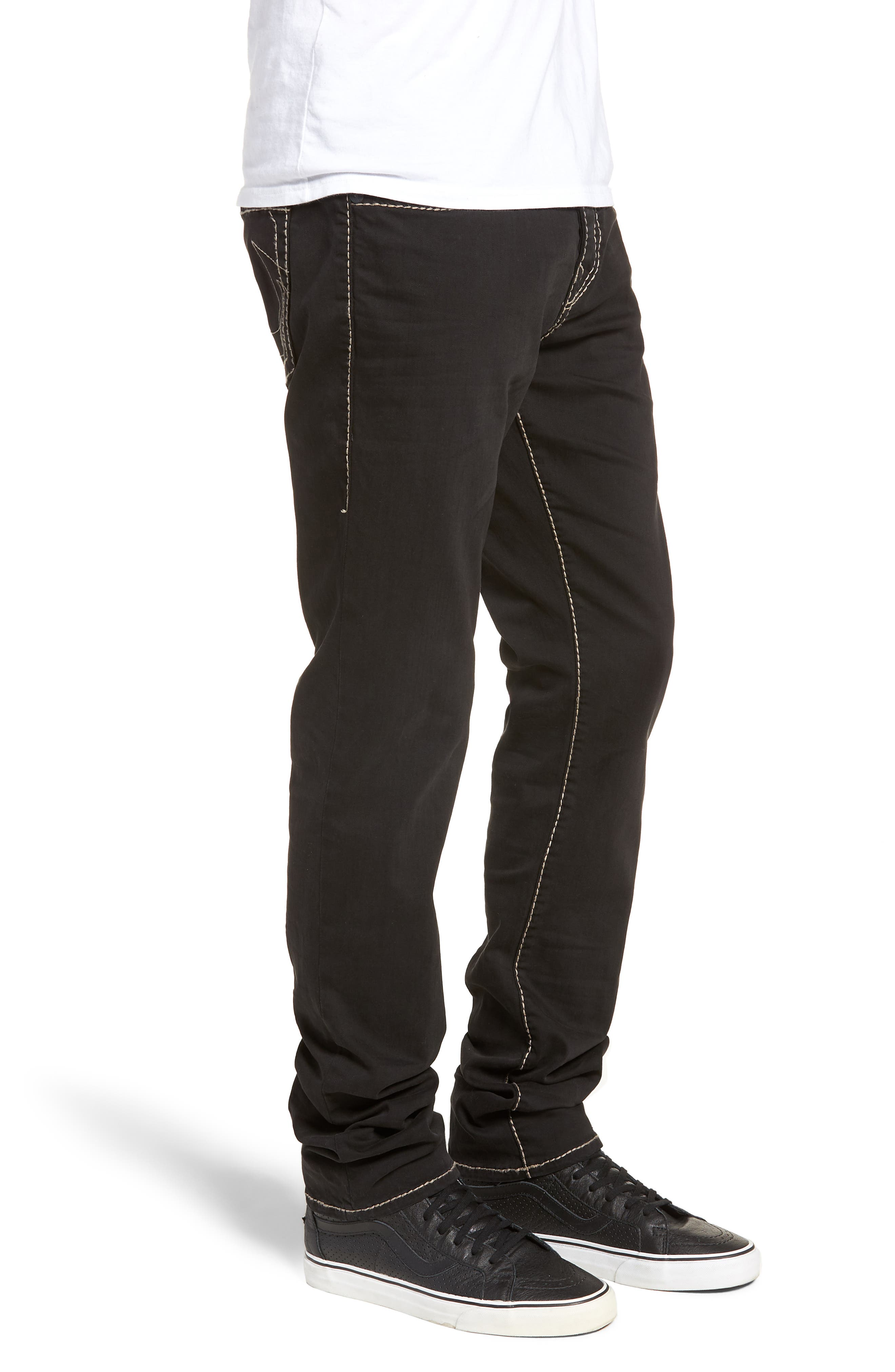 Rocco Skinny Fit Jeans,                             Alternate thumbnail 3, color,                             Black