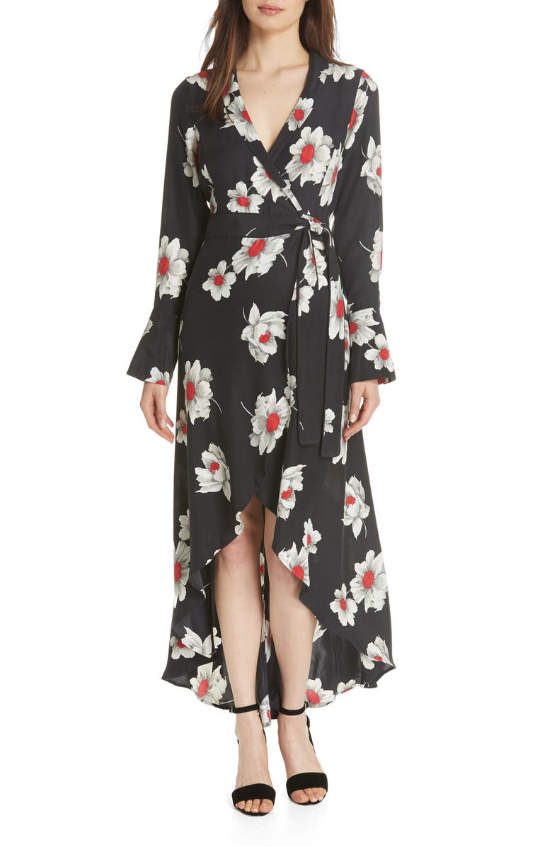 Gowin Floral High Low Silk Dress