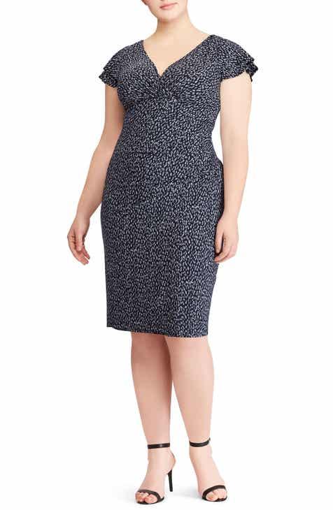 f1653d3a Lauren Ralph Lauren Brisa Falling Water Dress (Plus Size)