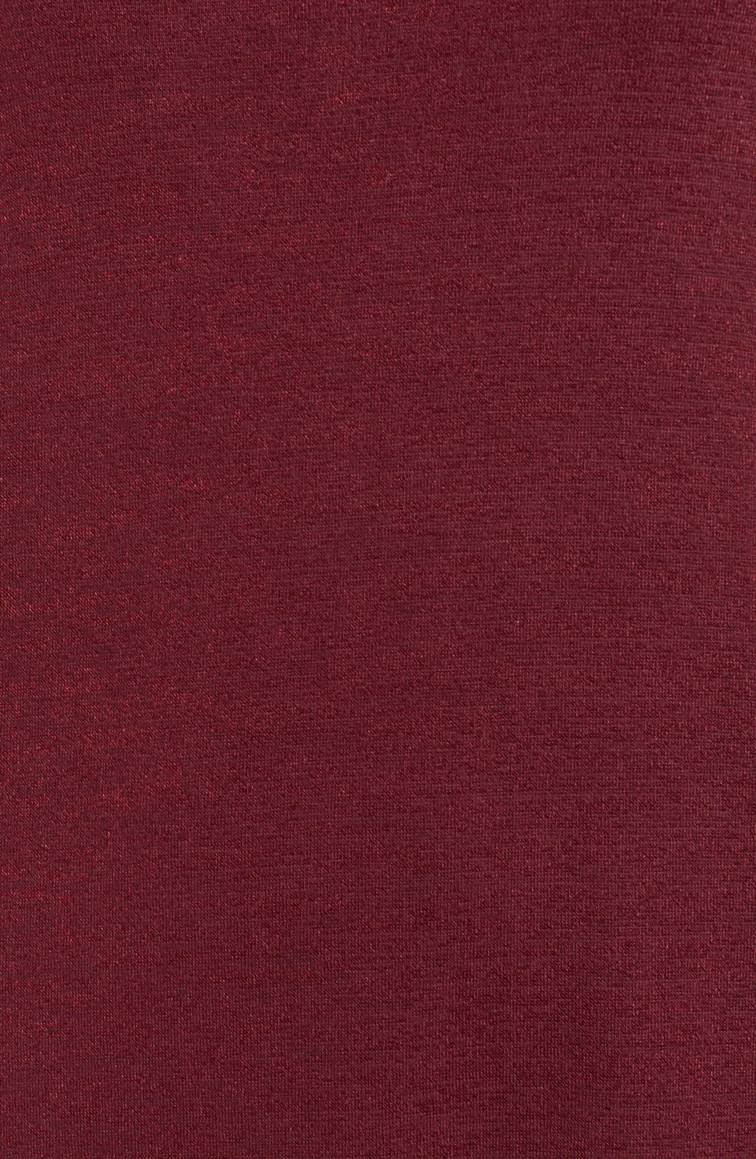 Tank Shift Dress,                             Alternate thumbnail 6, color,                             Red Tannin