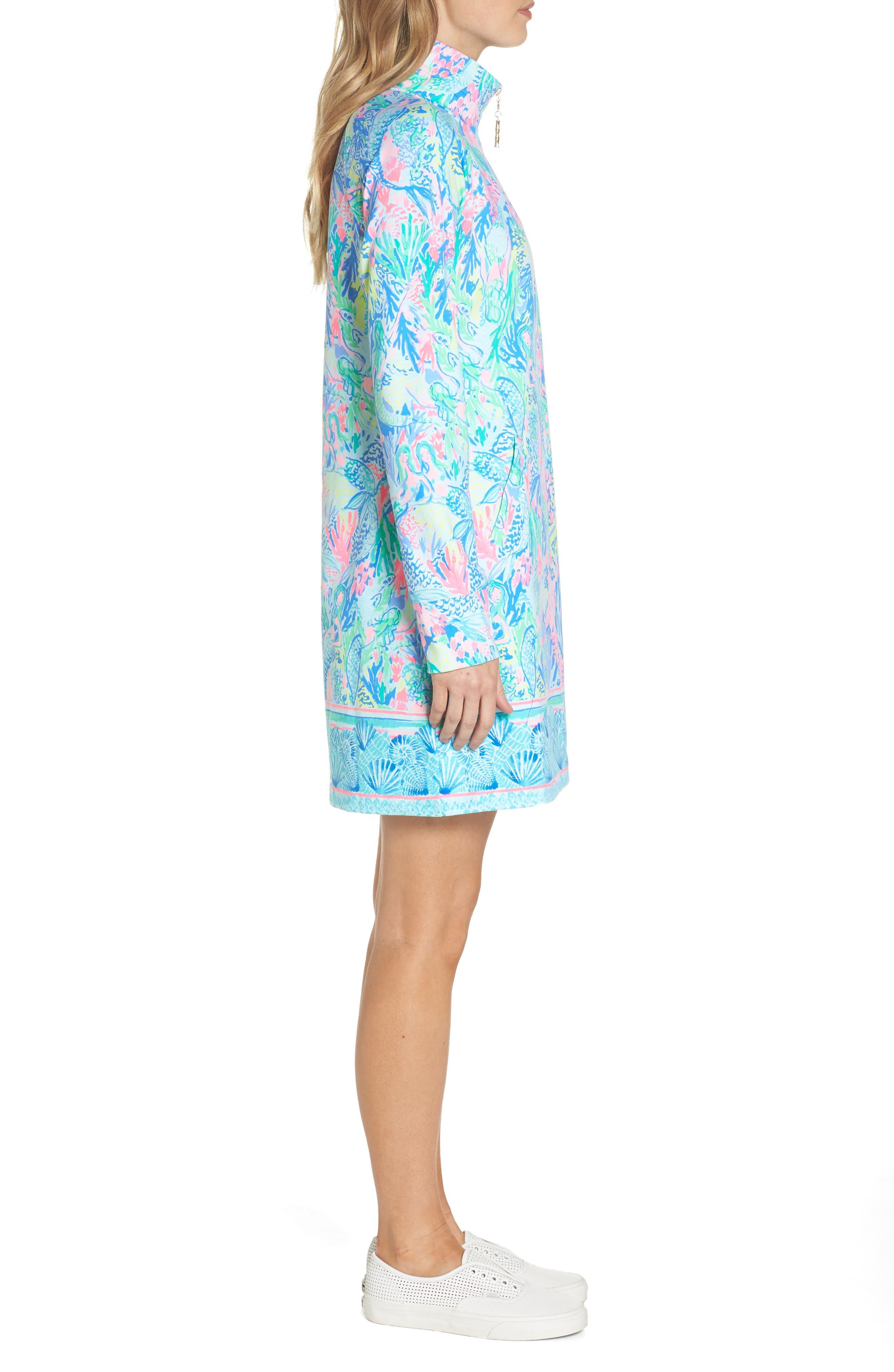 Lilly Pulitzer Skipper Shift Dress,                             Alternate thumbnail 3, color,                             Multi Mermaids Cove