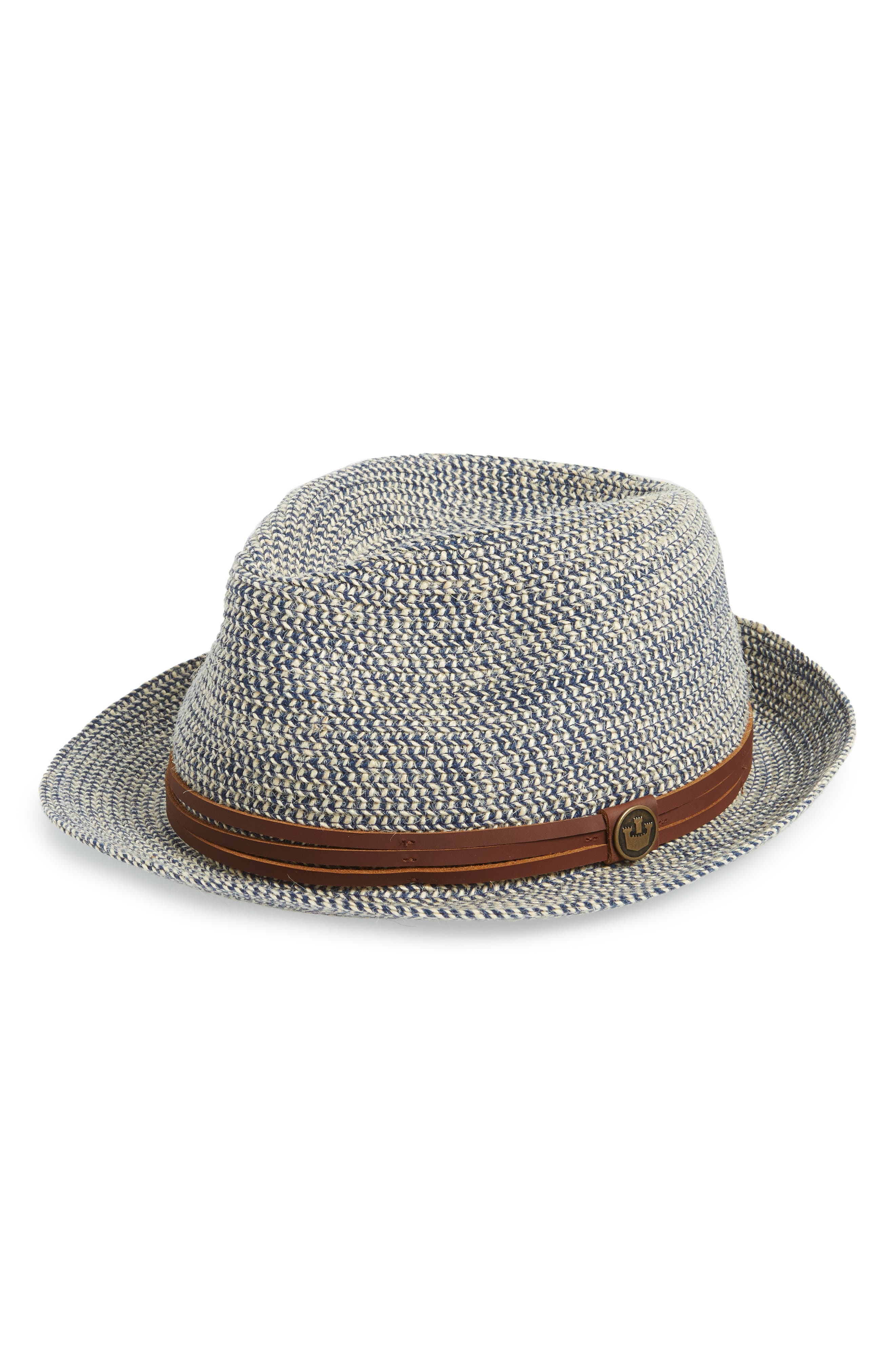 Laying Low Porkpie Hat,                         Main,                         color, Navy