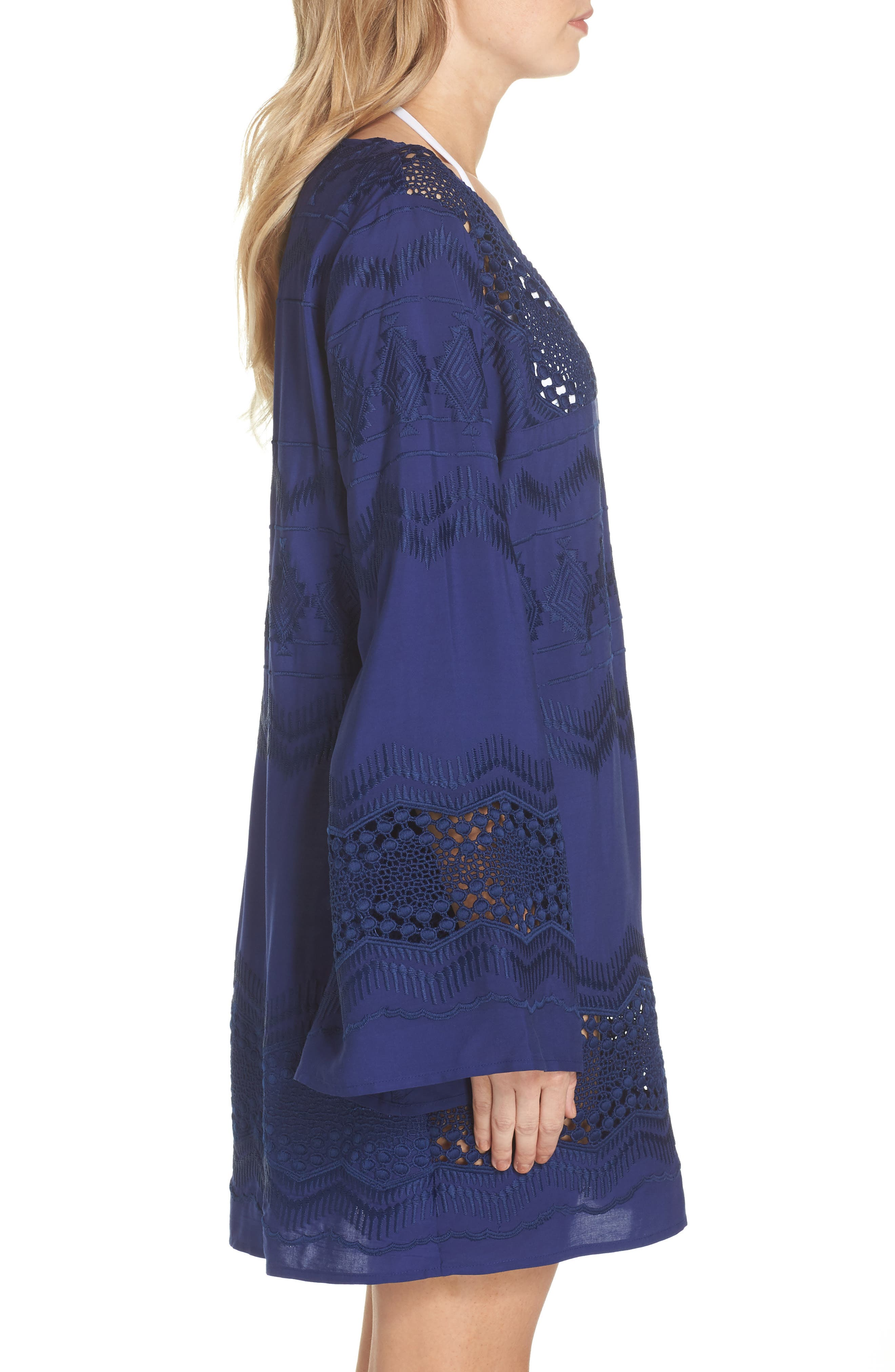 Cover-Up Tunic,                             Alternate thumbnail 3, color,                             Midnight