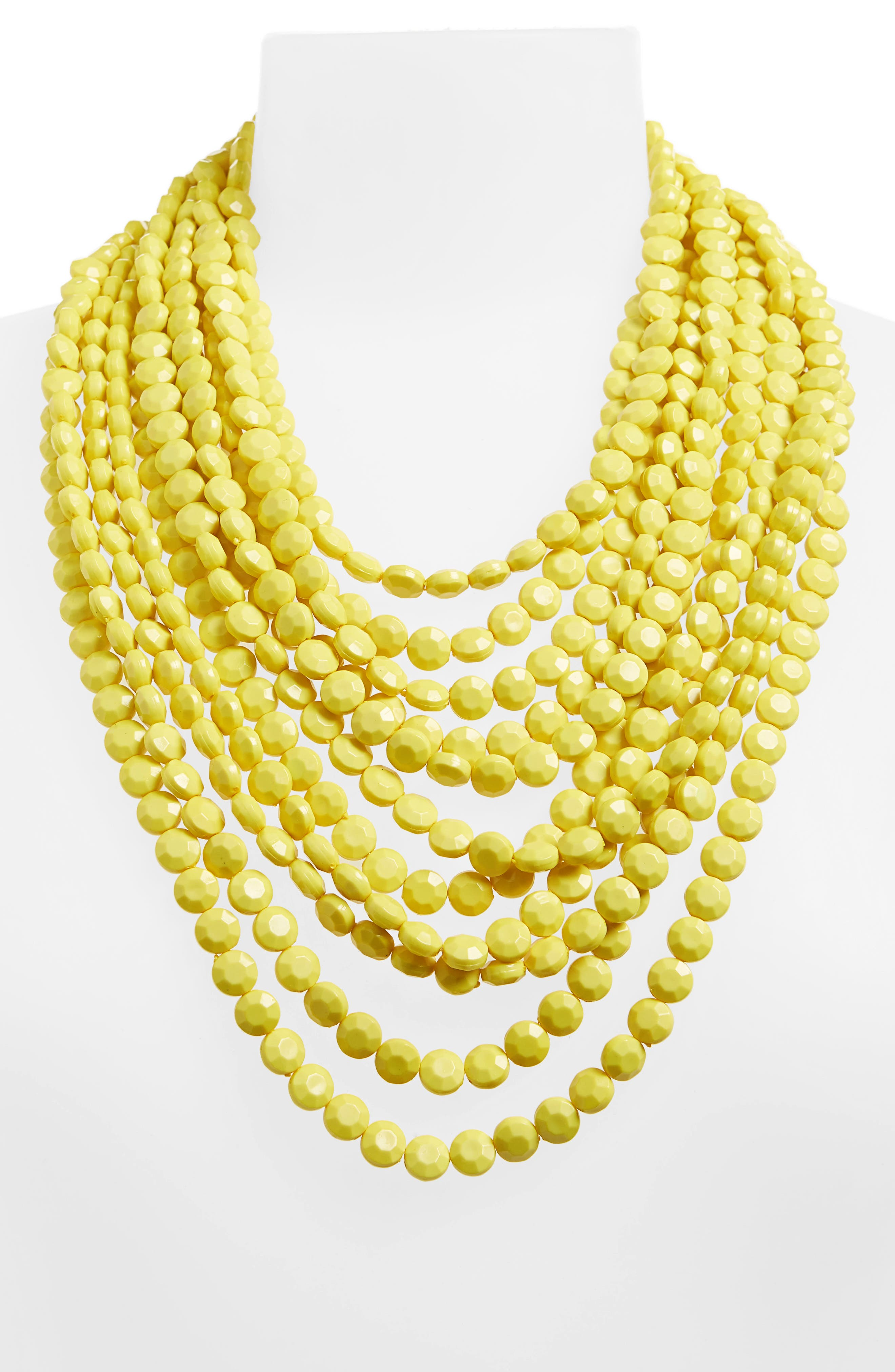 Multilayer Stone Necklace,                             Alternate thumbnail 2, color,                             Yellow