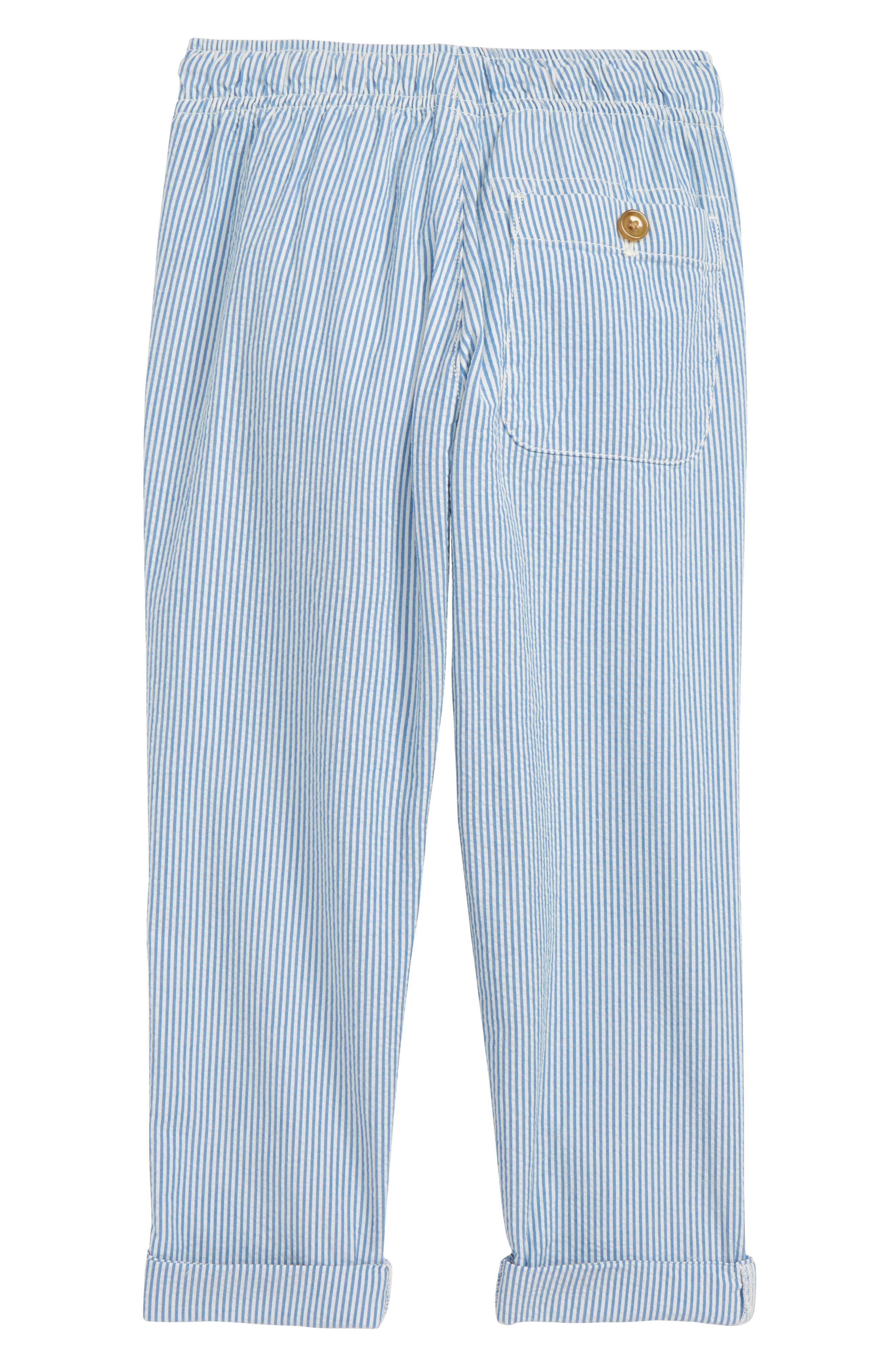 Seersucker Pants,                             Alternate thumbnail 2, color,                             Crisp Azure White