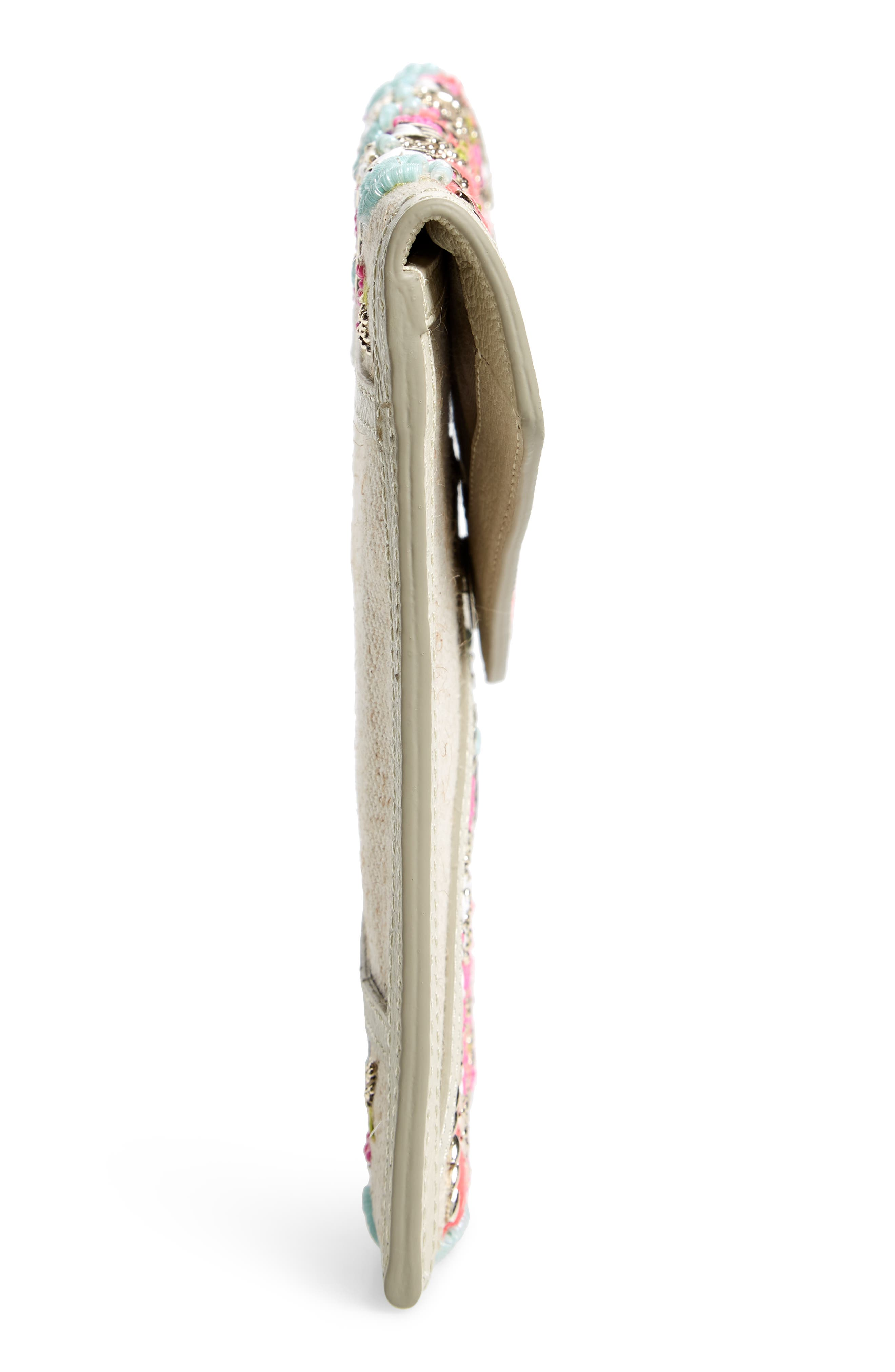 Dreamy Leo Envelope Clutch,                             Alternate thumbnail 4, color,                             Natural Multi