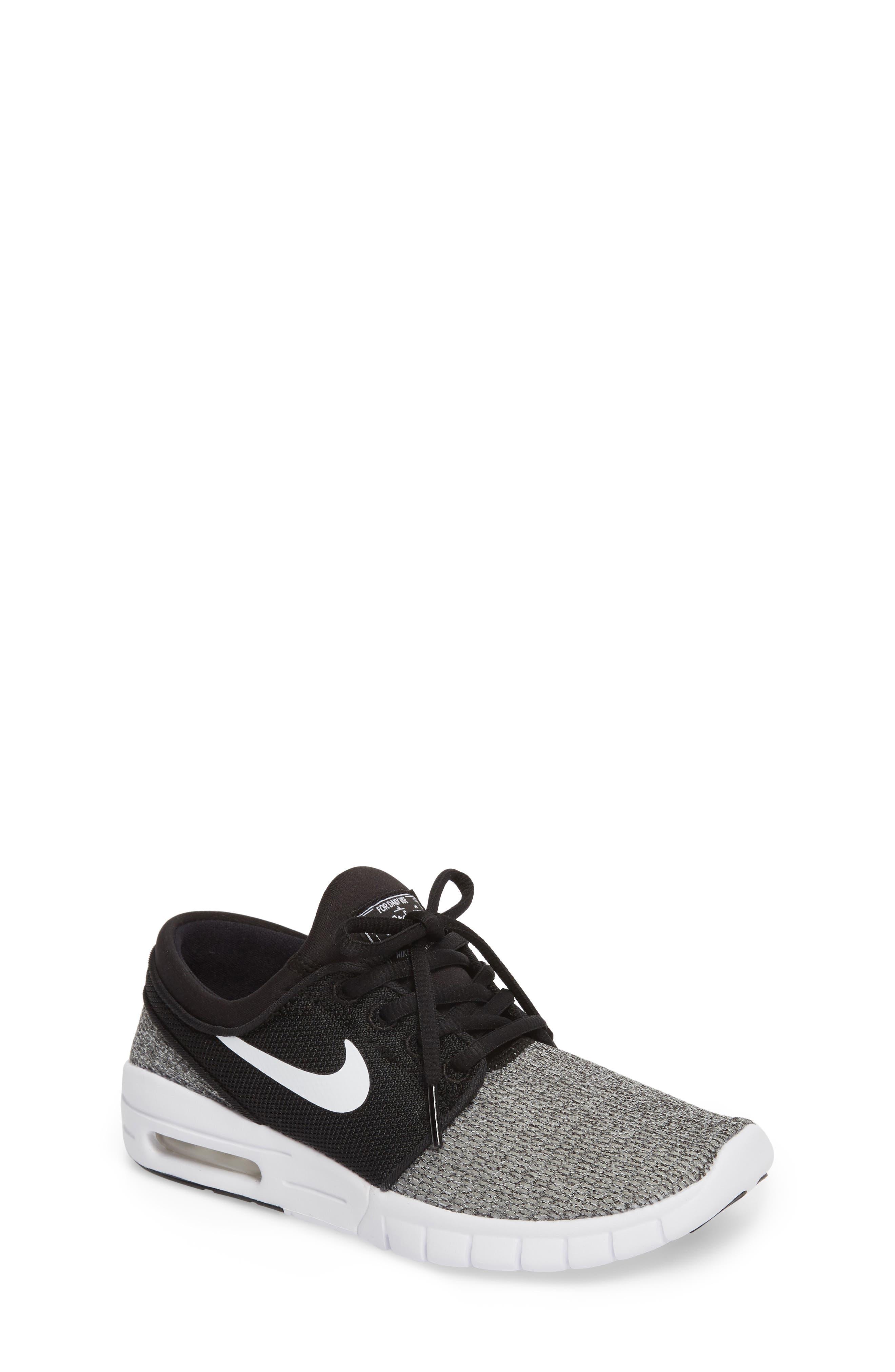 Stefan Janoski Max SB Skate Sneaker,                             Main thumbnail 1, color,                             Black/ White/ White