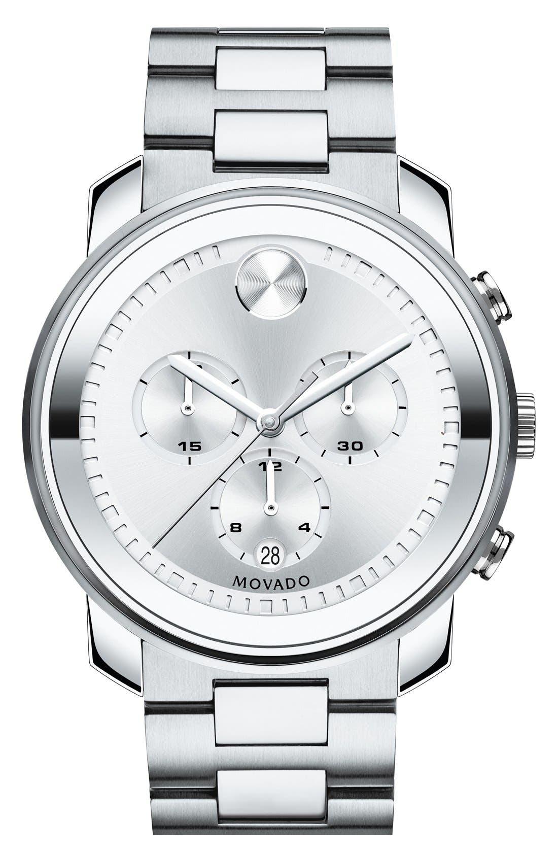 Main Image - Movado Bold Chronograph Bracelet Watch, 44mm