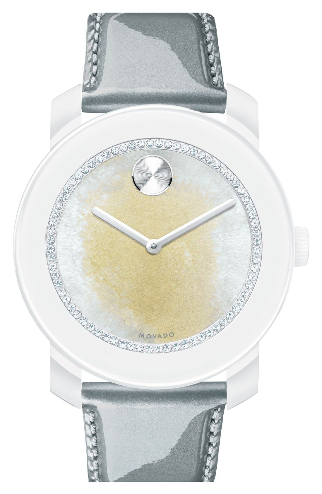 Main Image - Movado 'Bold' Crystal Dial Patent Strap Watch, 42mm