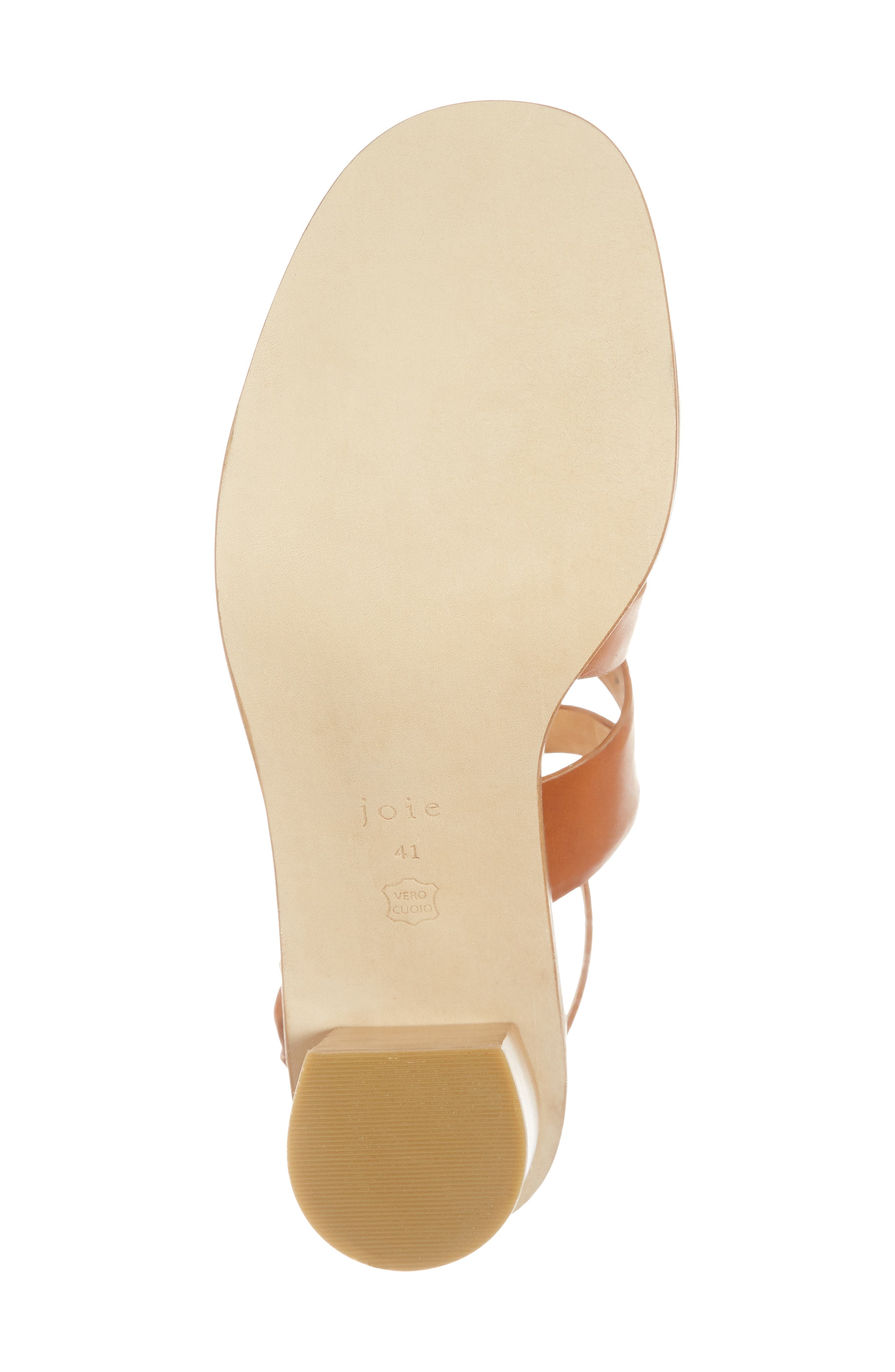 Onfer Studded Strappy Sandal,                             Alternate thumbnail 6, color,                             Tan