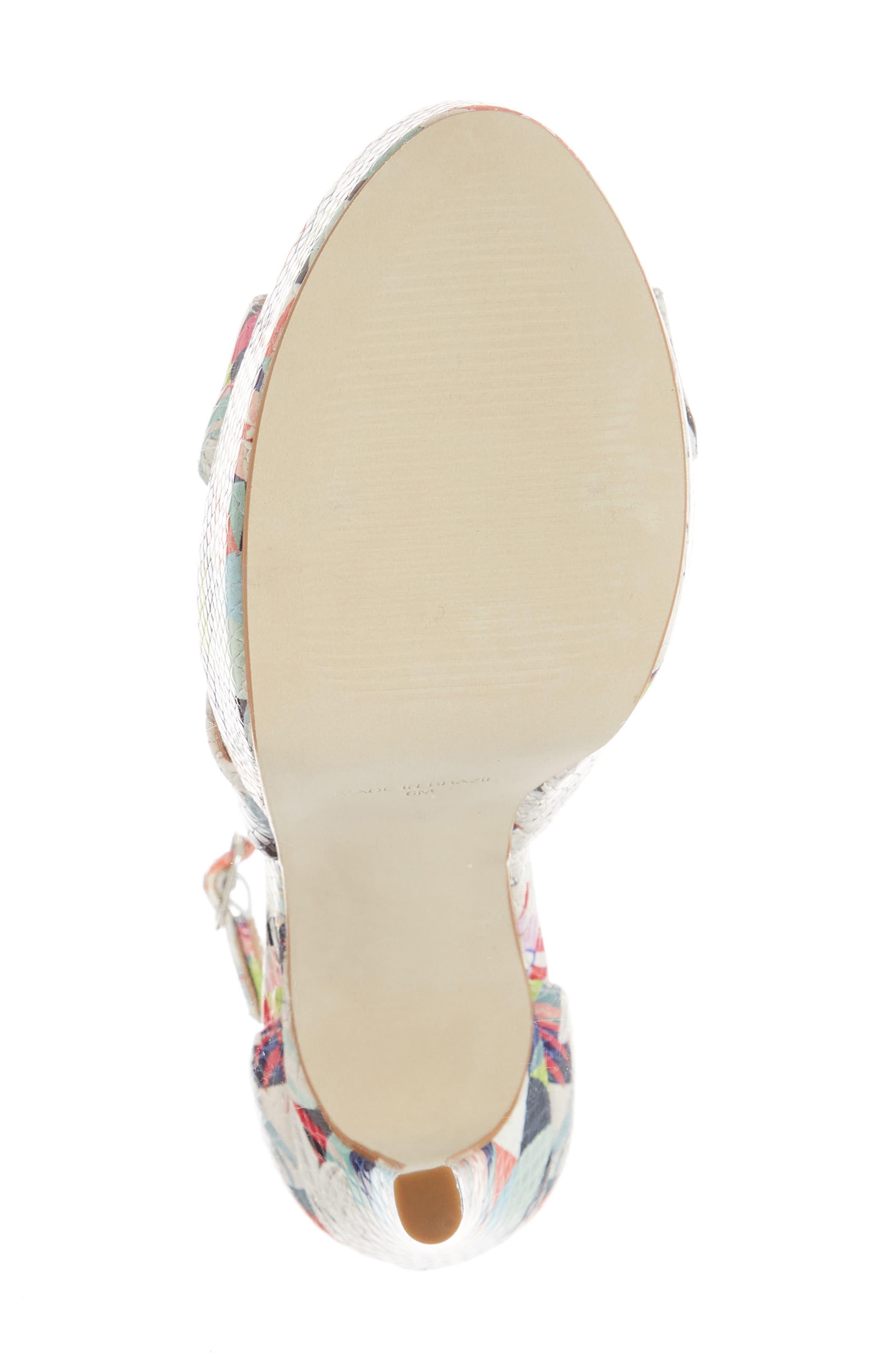 Janelle Platform Sandal,                             Alternate thumbnail 6, color,                             Bright Multi