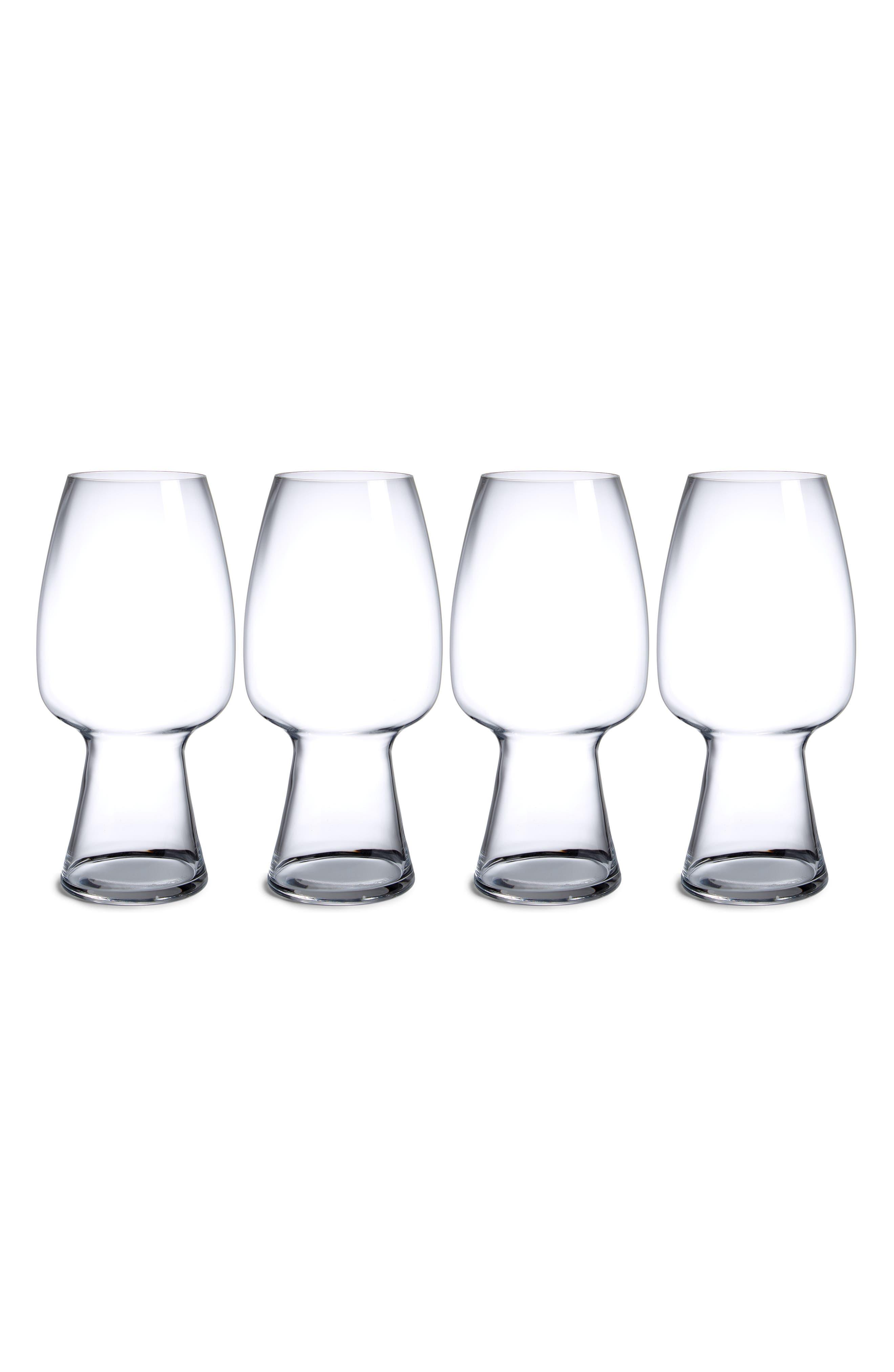 Set of 4 Stout Glasses,                             Main thumbnail 1, color,                             Clear