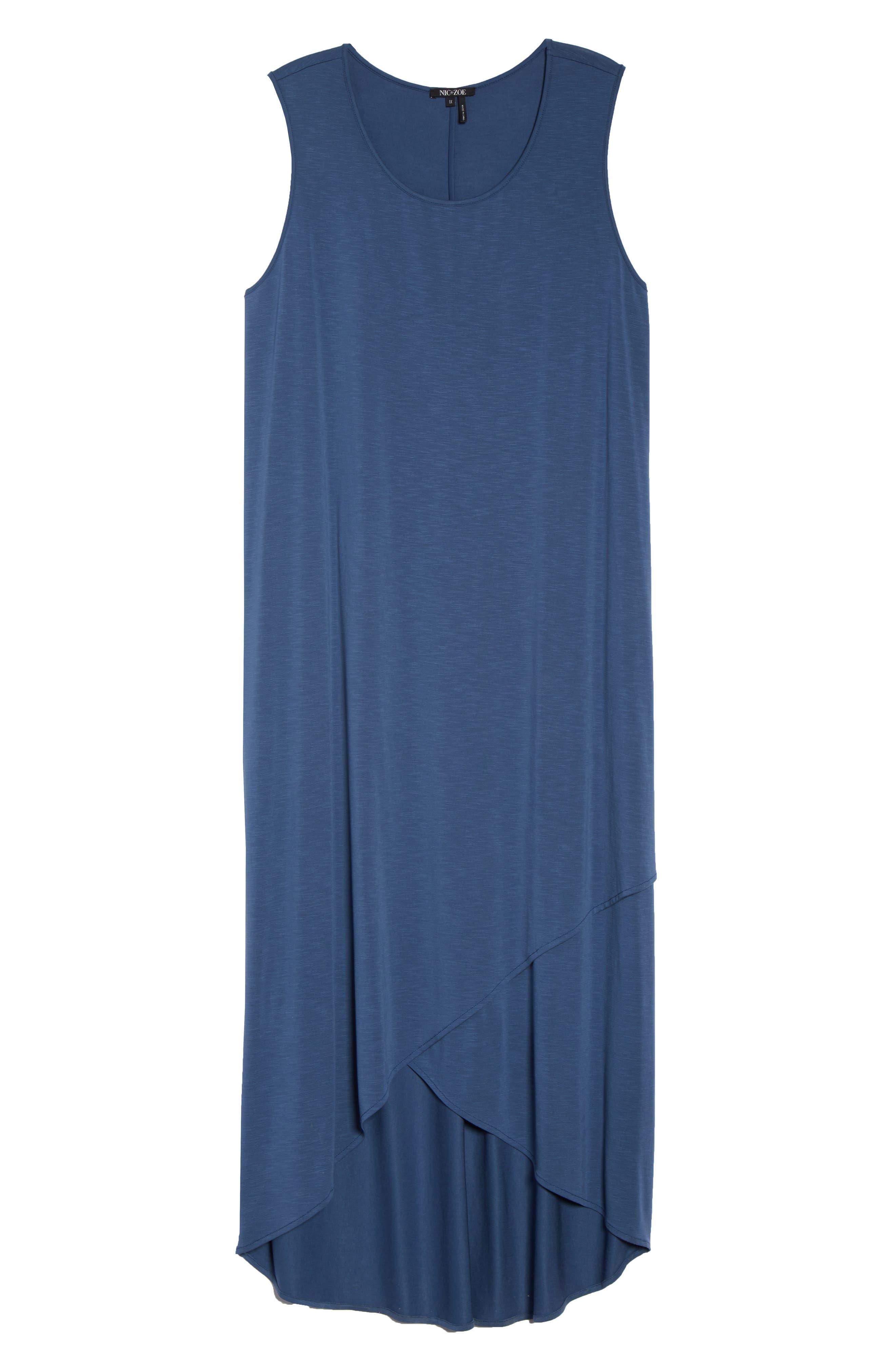 Boardwalk Jersey High/Low Dress,                             Alternate thumbnail 7, color,                             Washed Rich Indigo