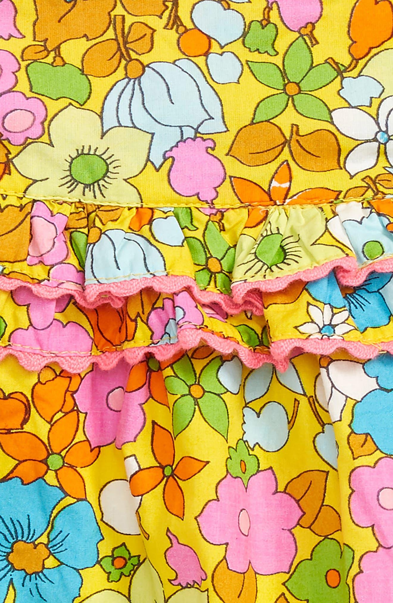 Bubble Bodysuit,                             Alternate thumbnail 2, color,                             Multi Retro Floral