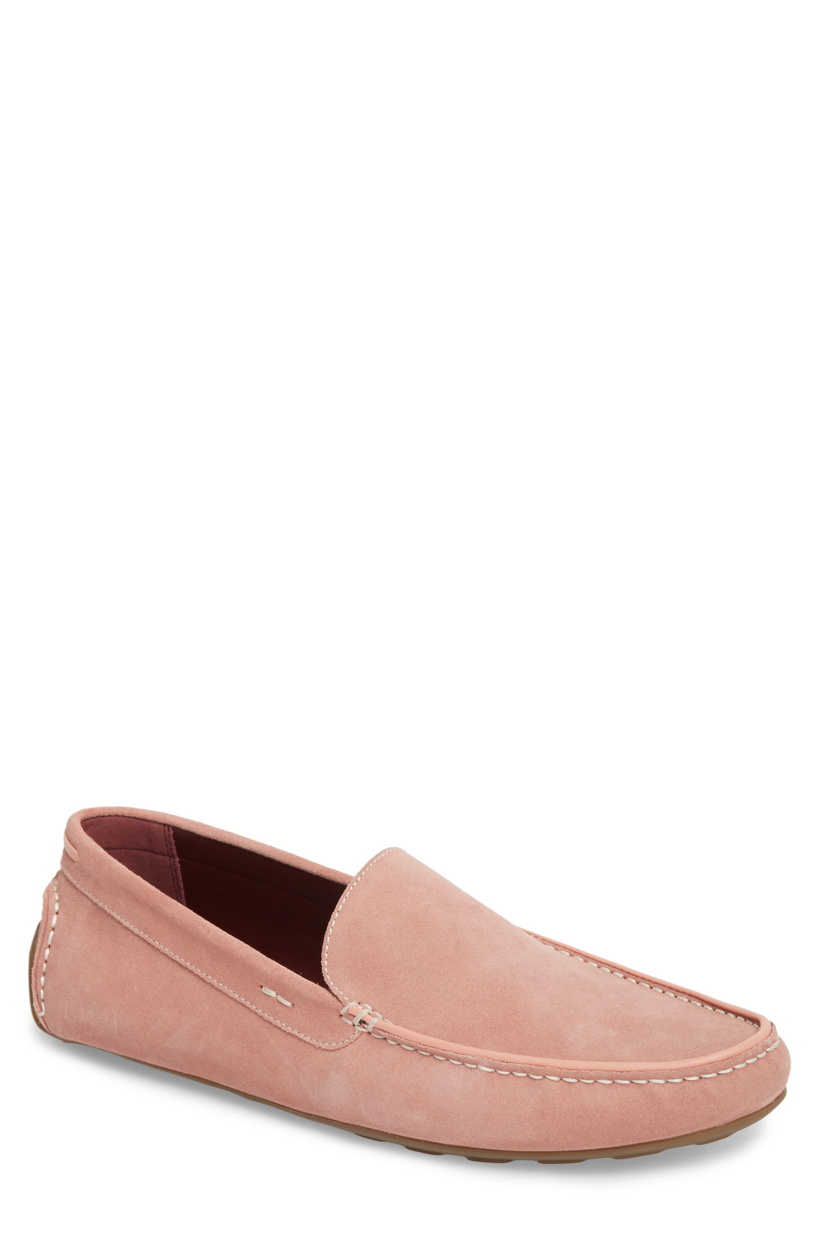 Leroy Driver Shoe,                         Main,                         color, Blush
