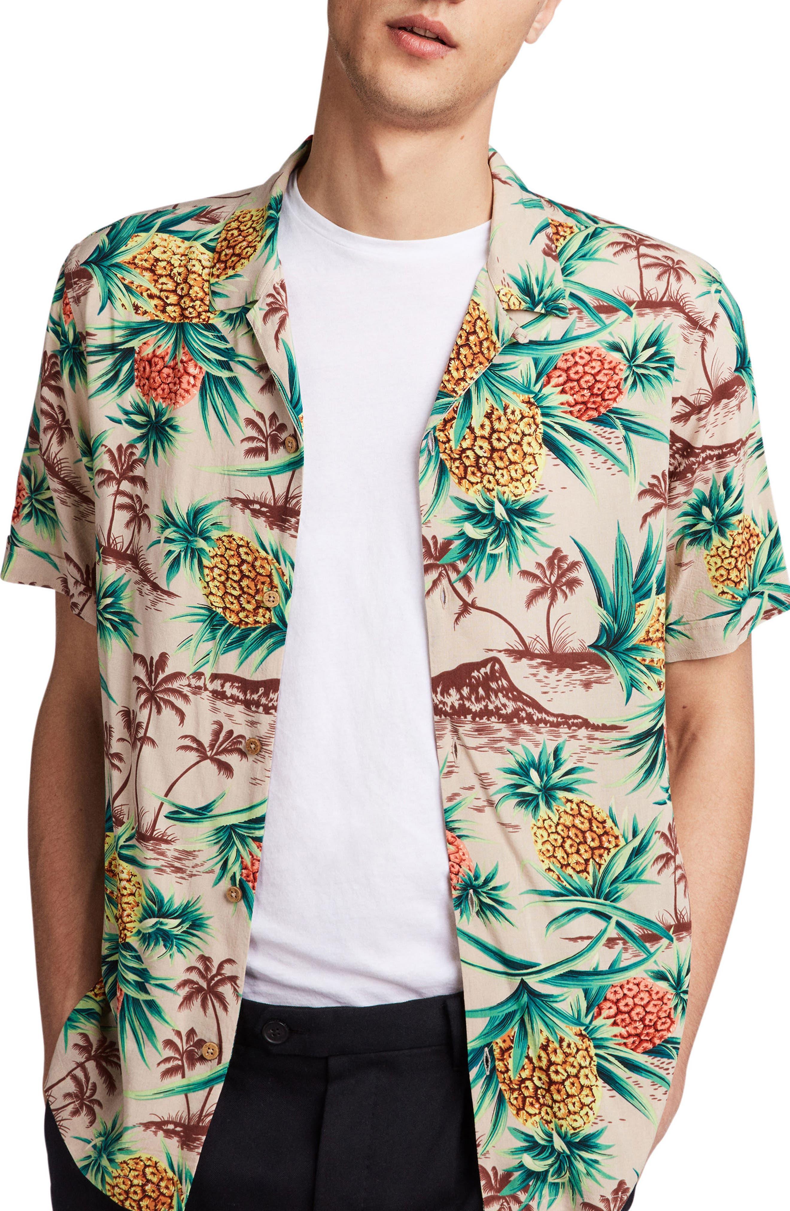 Endeavour Regular Fit Short Sleeve Sport Shirt,                             Alternate thumbnail 4, color,                             Mushroom Brown
