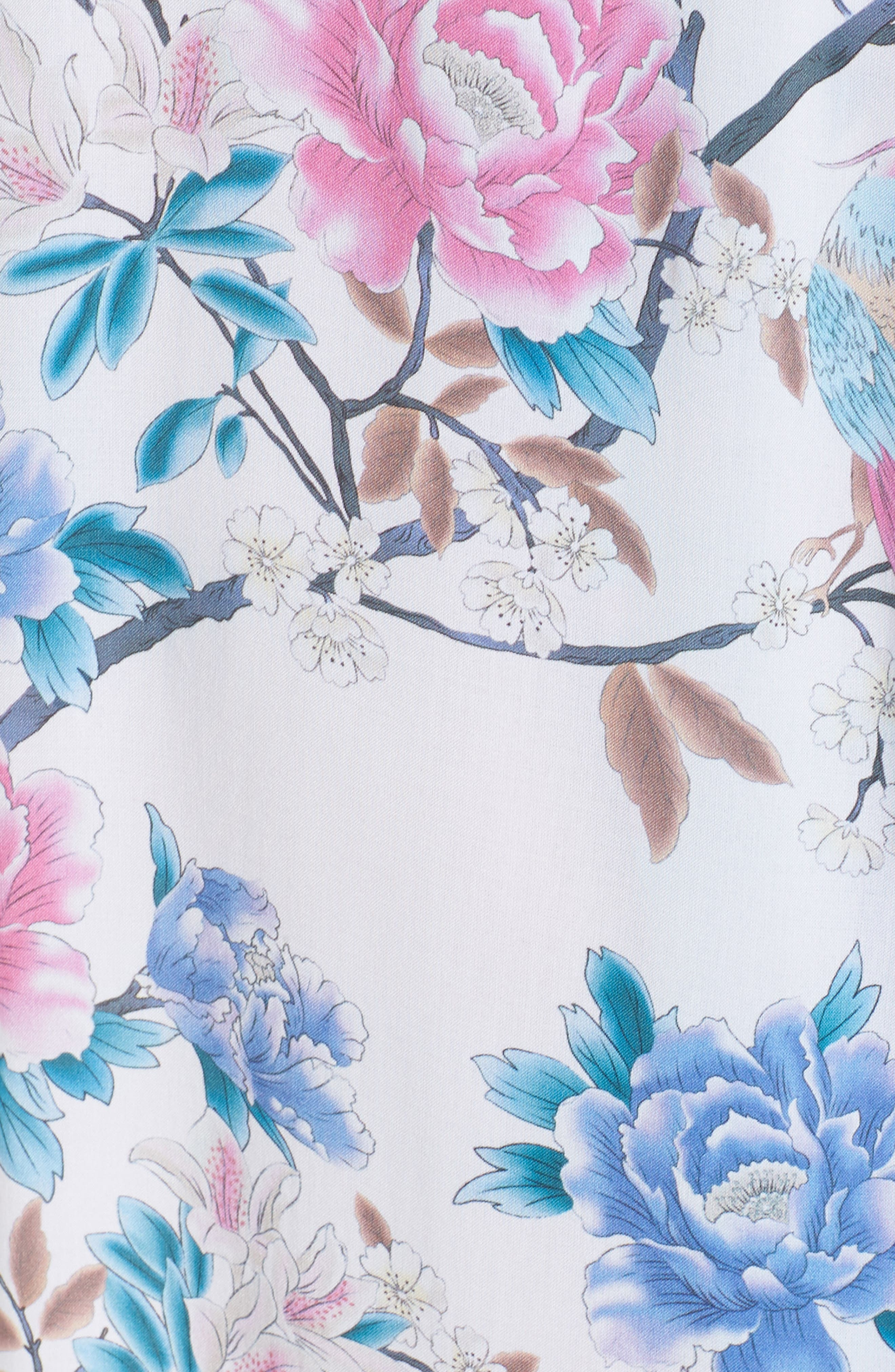 Talulah Boho Long Robe,                             Alternate thumbnail 5, color,                             Ivory Floral