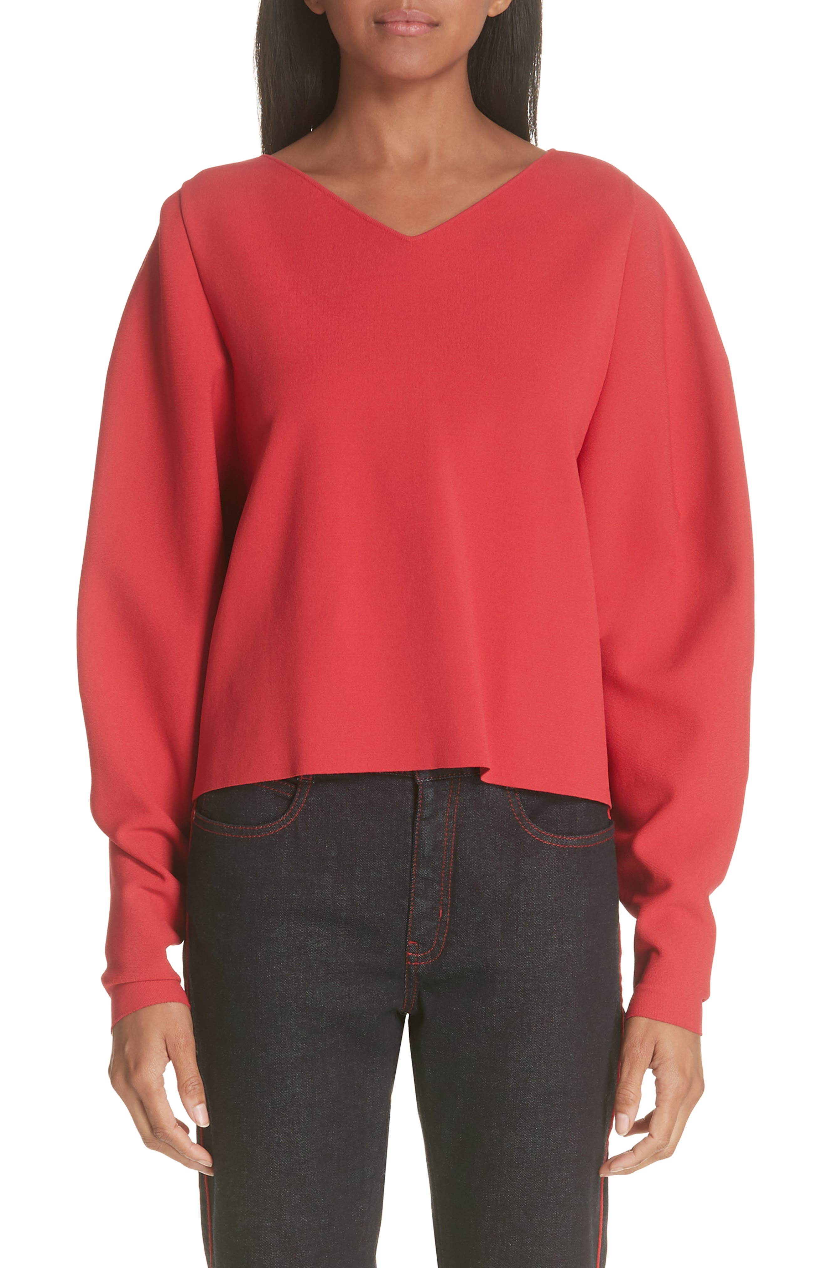 Stella McCartney Zip Sleeve Milano Stitch Sweater