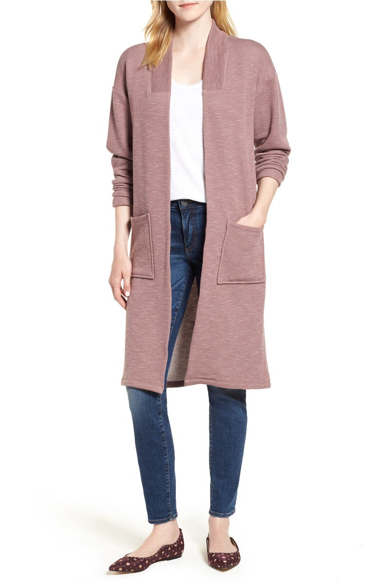 Long Cardigan,                         Main,                         color, Mauve Latte